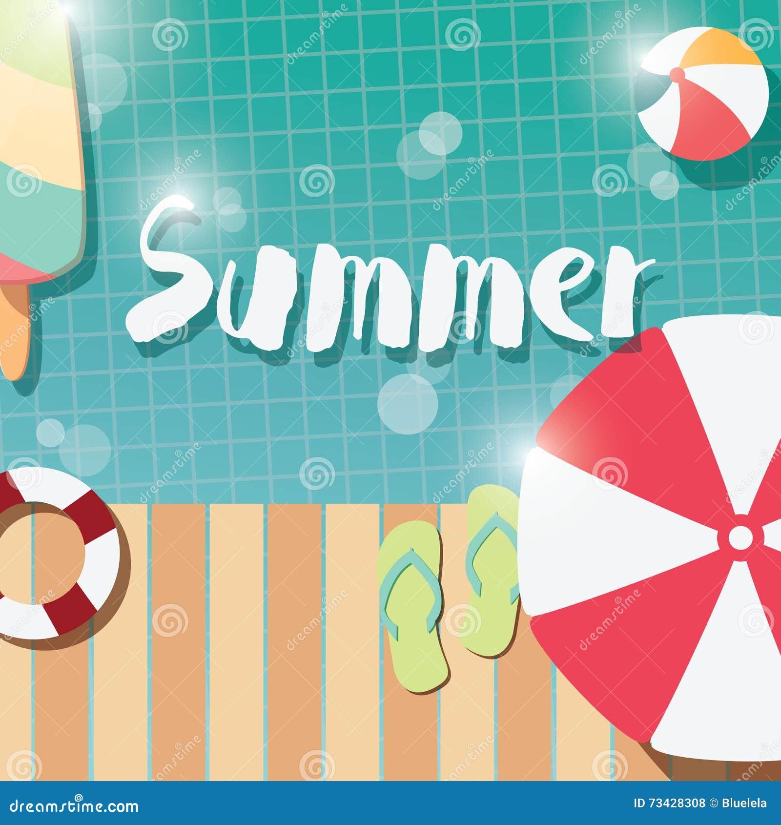 diseño tipográfico moderno del cartel del verano con helado, la