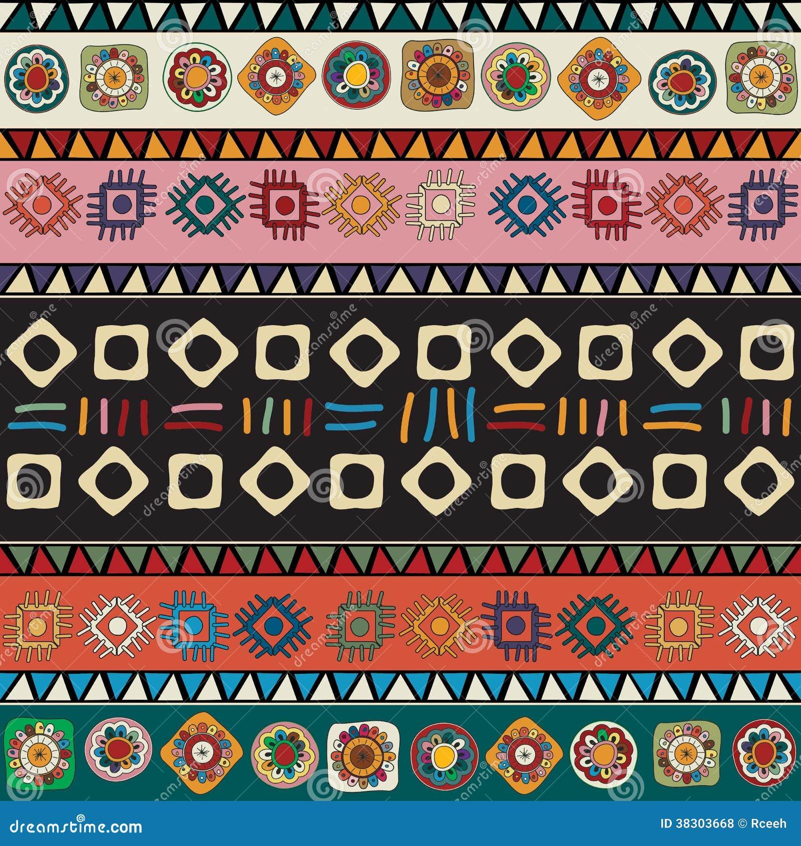 Diseño Tribal Dibujado Mano Ilustración Del Vector Ilustración De