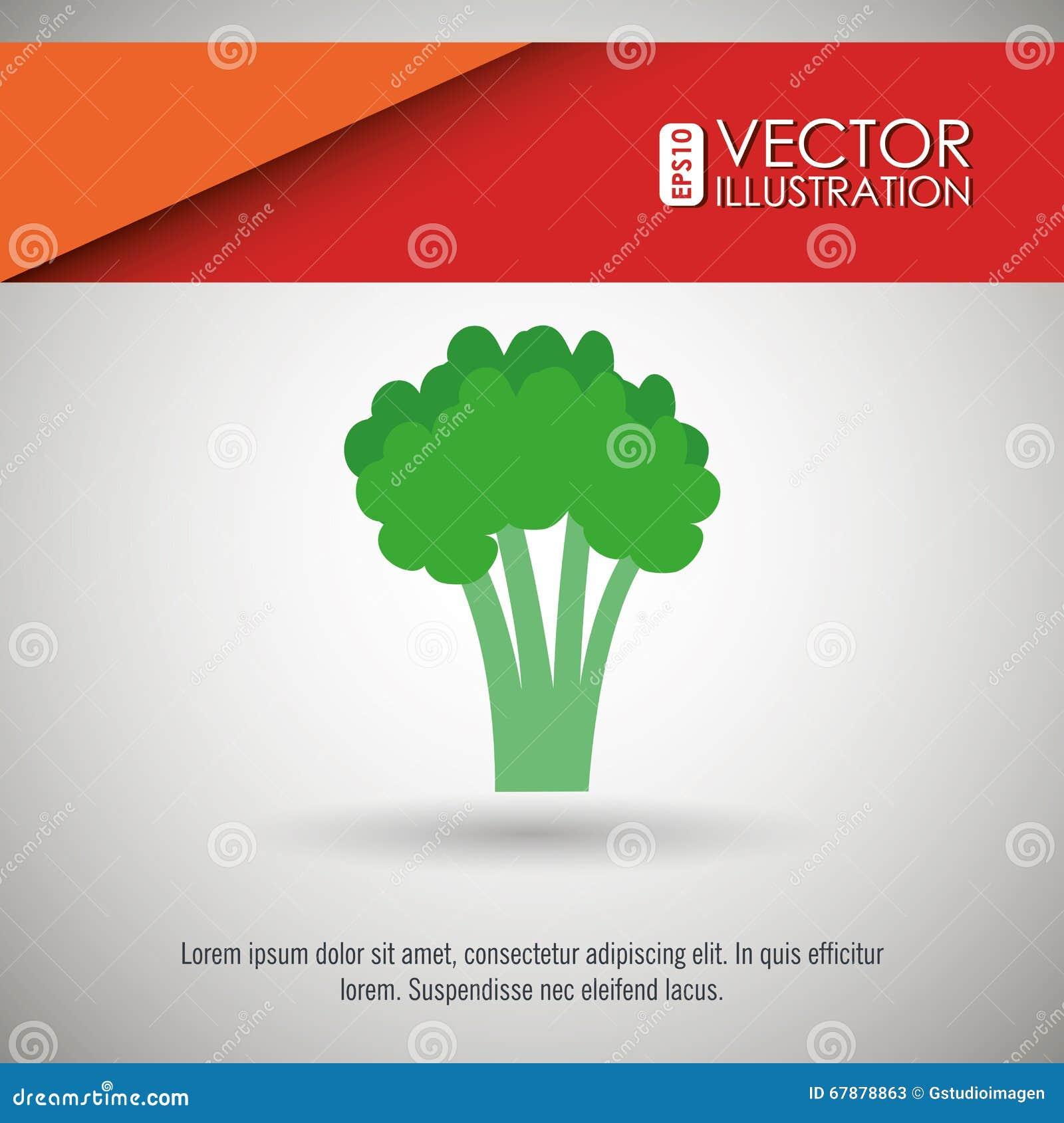 Diseño vegetariano de la comida