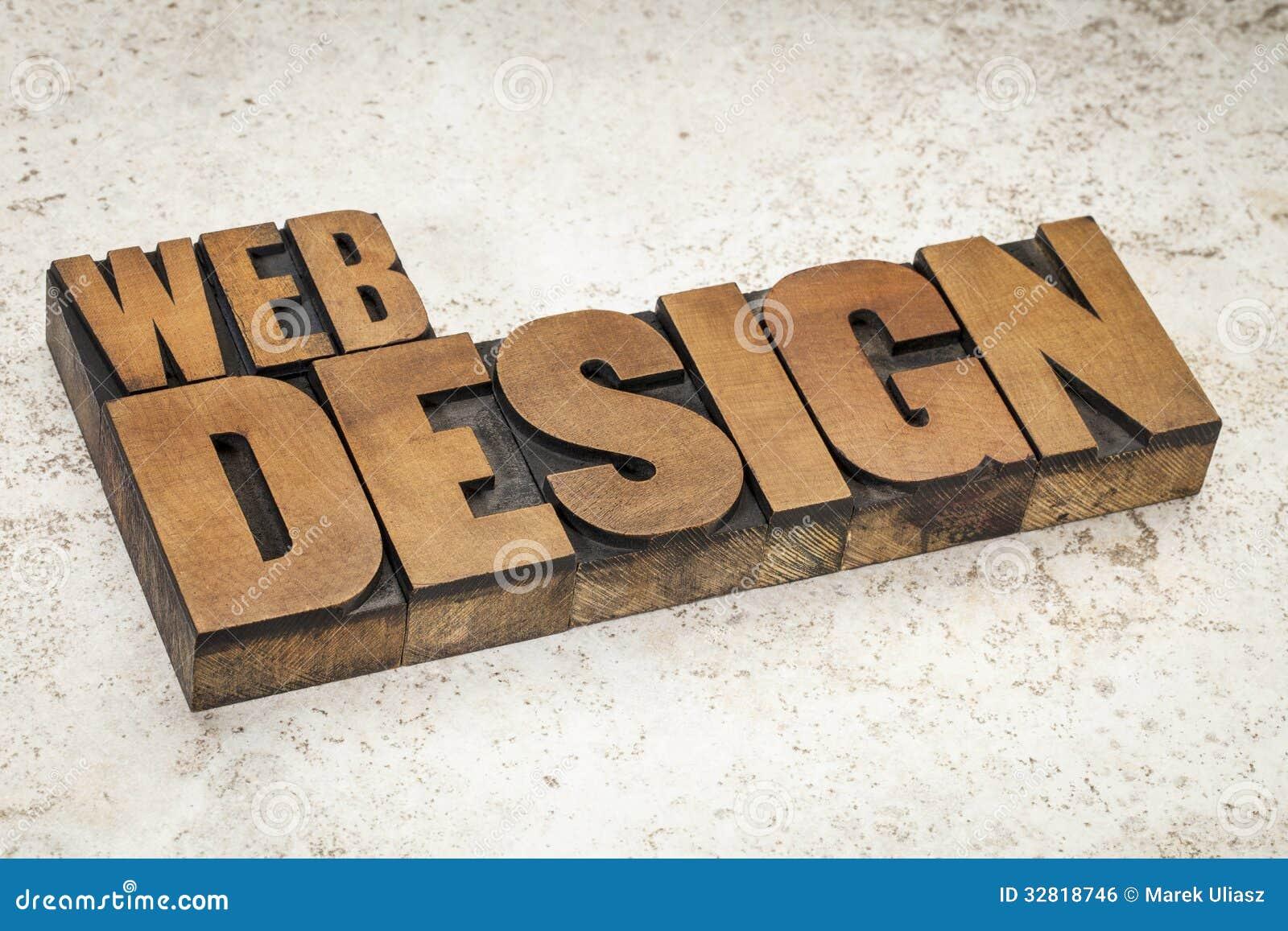 Diseño web en el tipo de madera