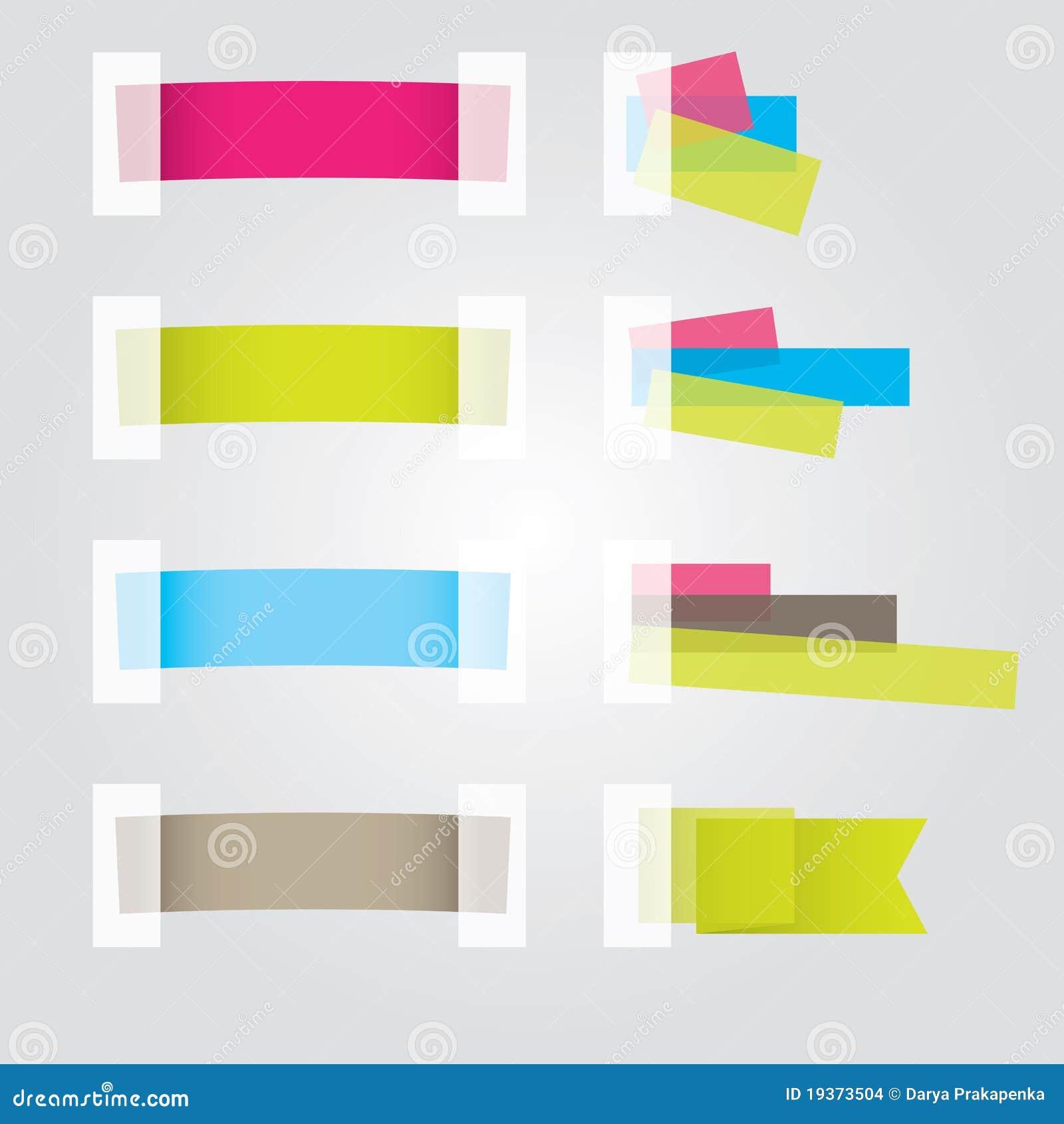 Diseños de la etiqueta engomada del Web page. Ilustración del vector