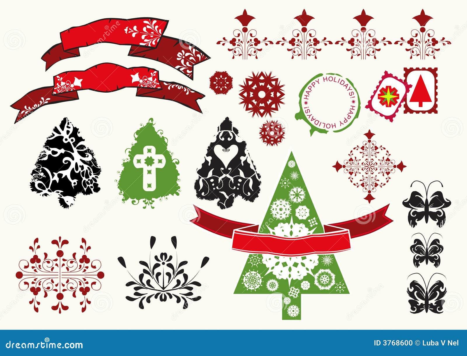 ... festivas de los árboles de navidad, de las mariposas y de la