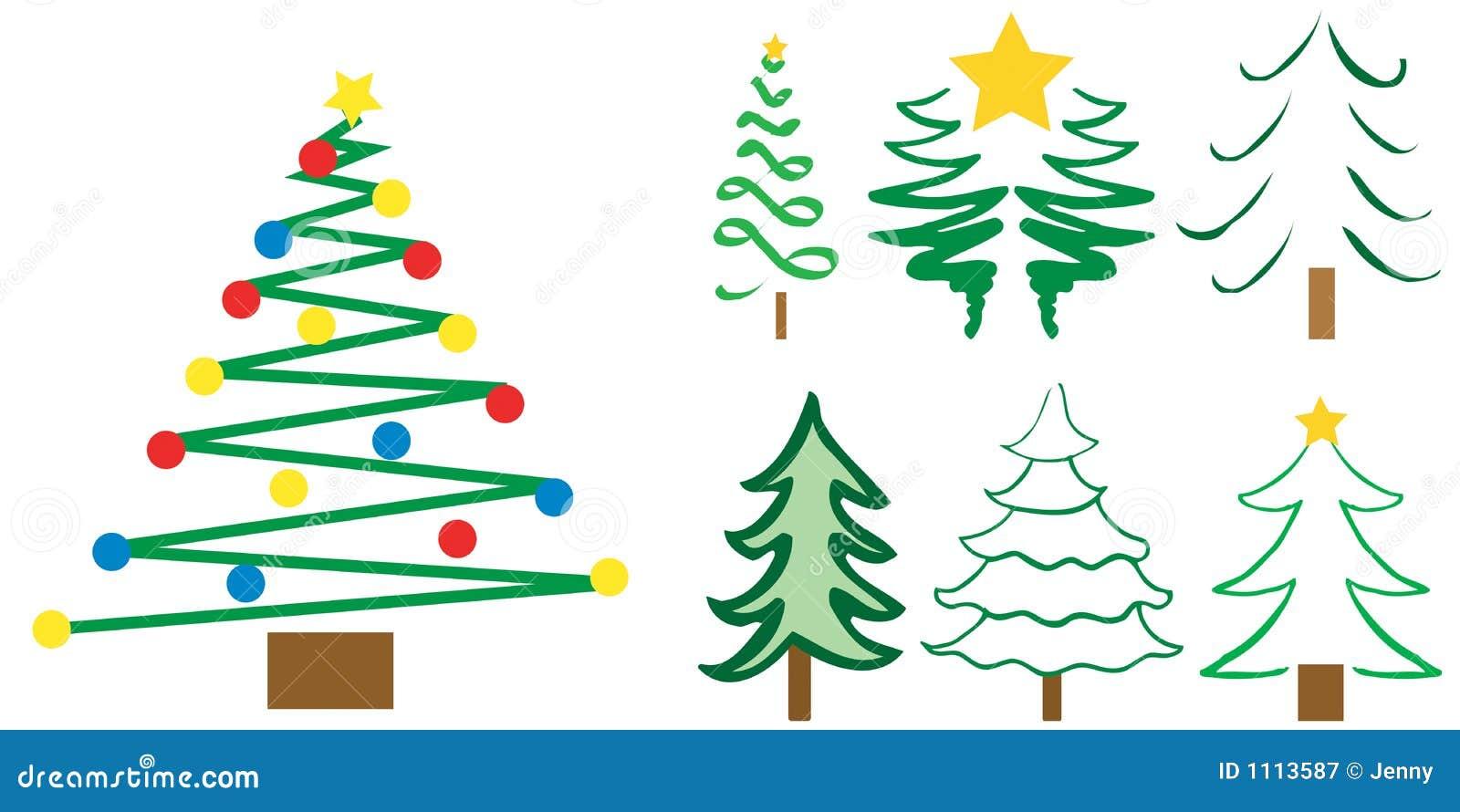 Dise os del rbol de navidad ilustraci n del vector - Arbol de navidad diseno ...