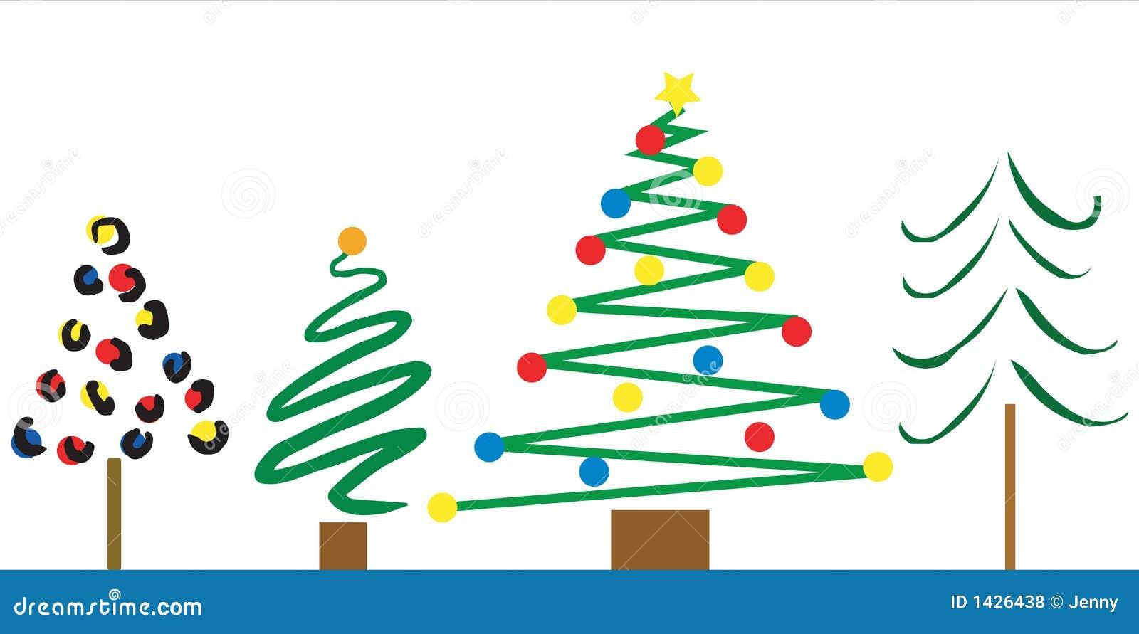Dise os del rbol de navidad ilustraci n del vector - Postal navidad original ...