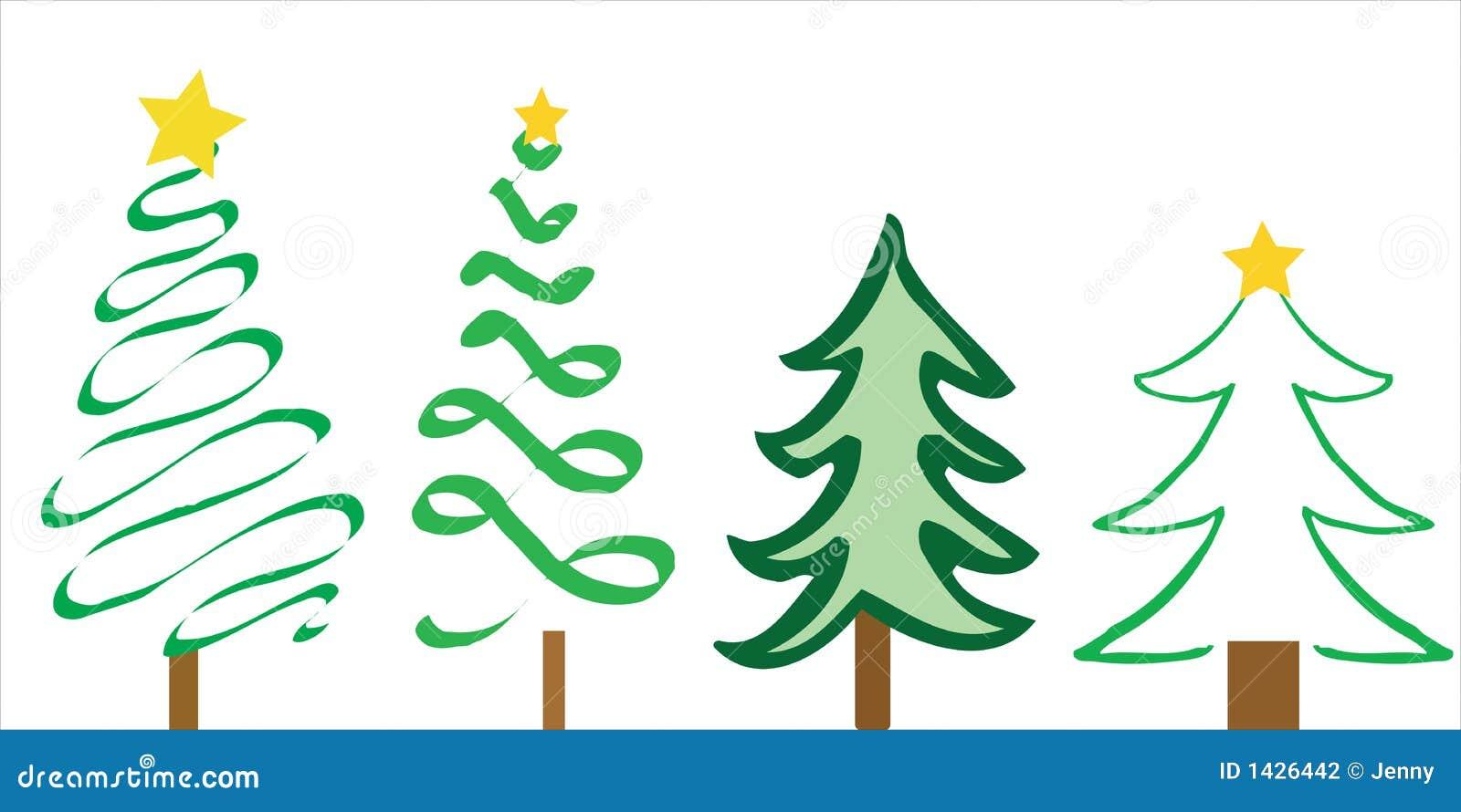 Dise os del rbol de navidad ilustraci n del vector ilustraci n de holiday tarjeta 1426442 Disenos de arboles de navidad