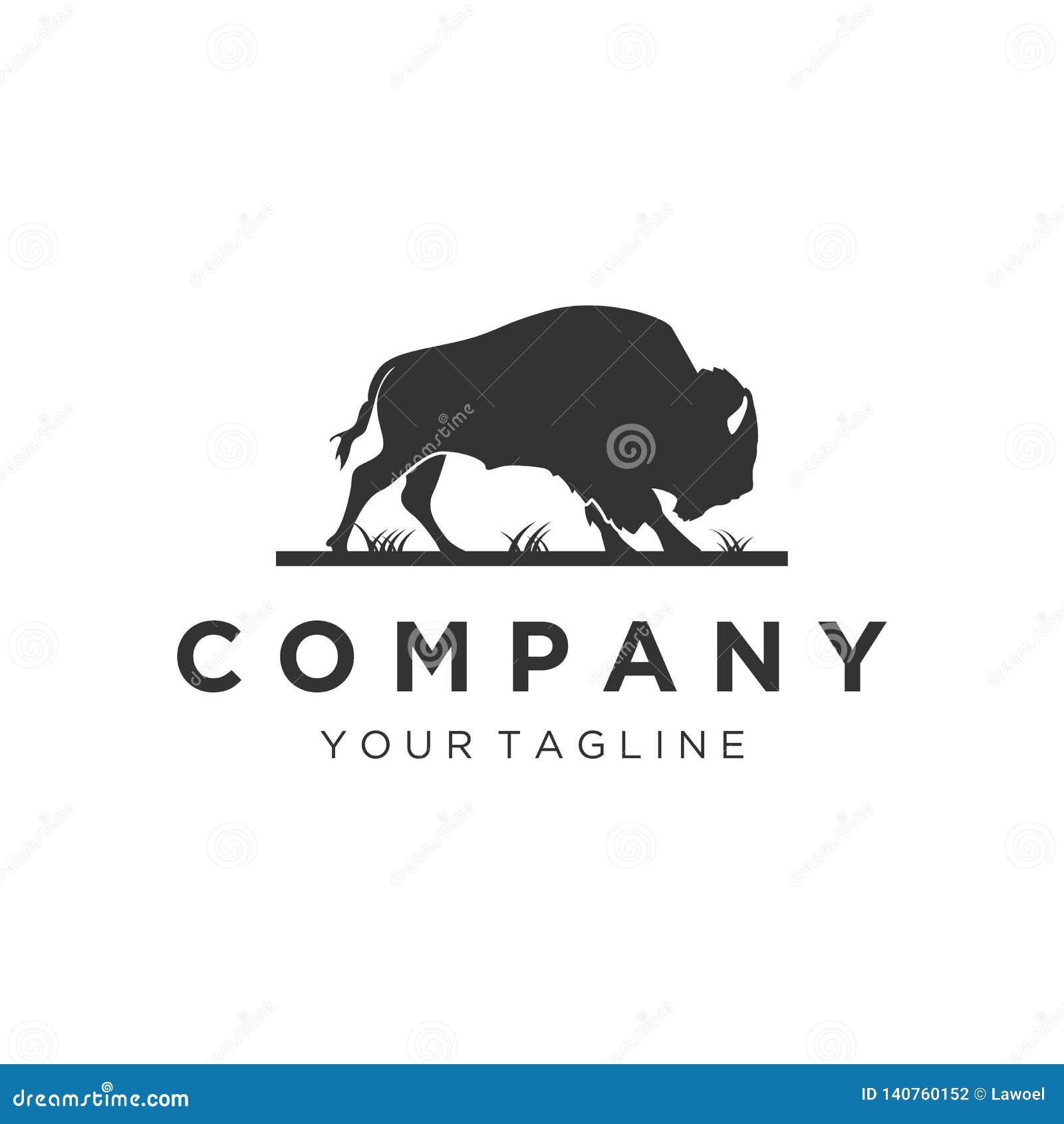 Diseños del logotipo de Bull de la silueta