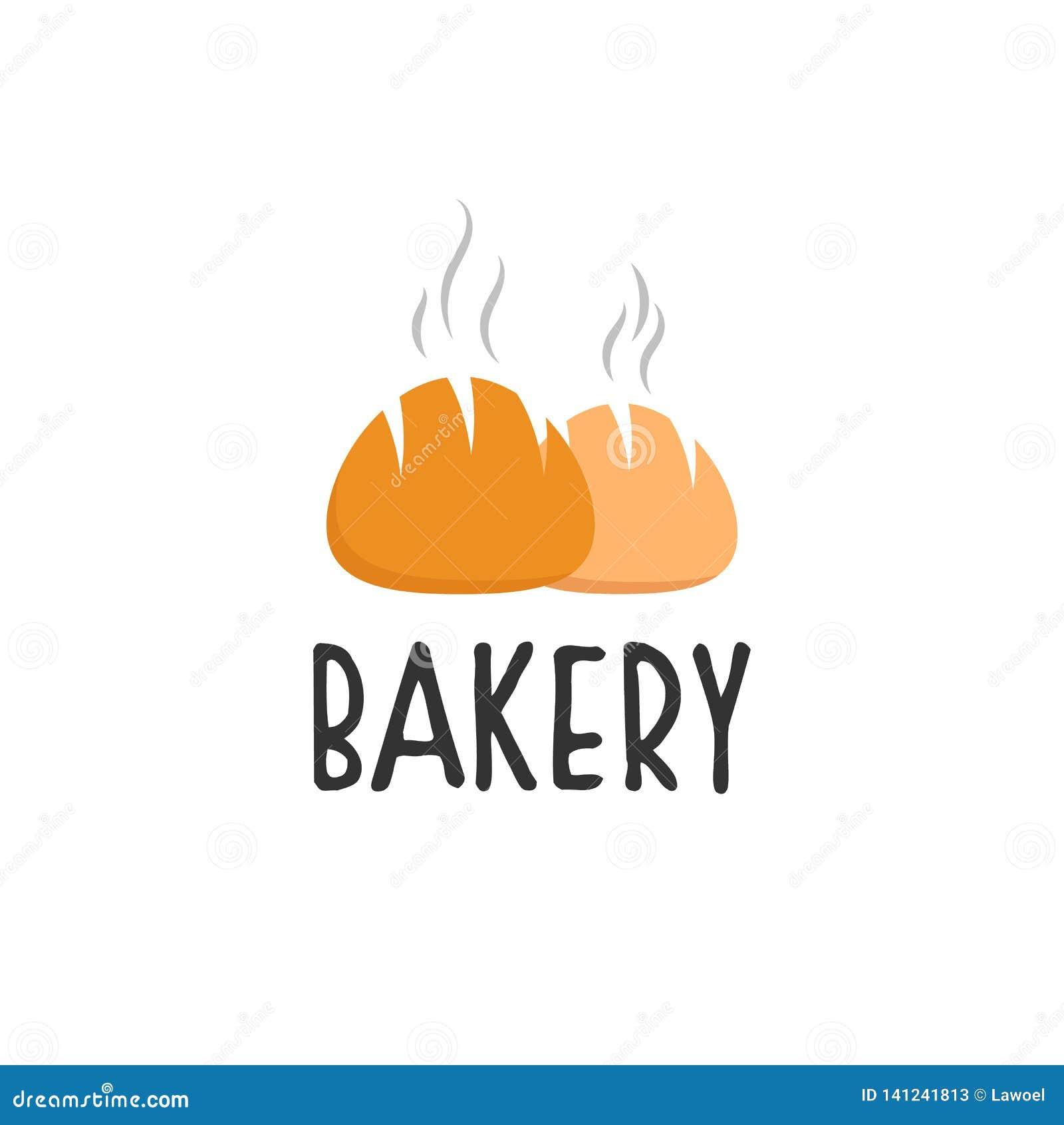 Diseños del logotipo de la panadería, tipo moderno del logotipo