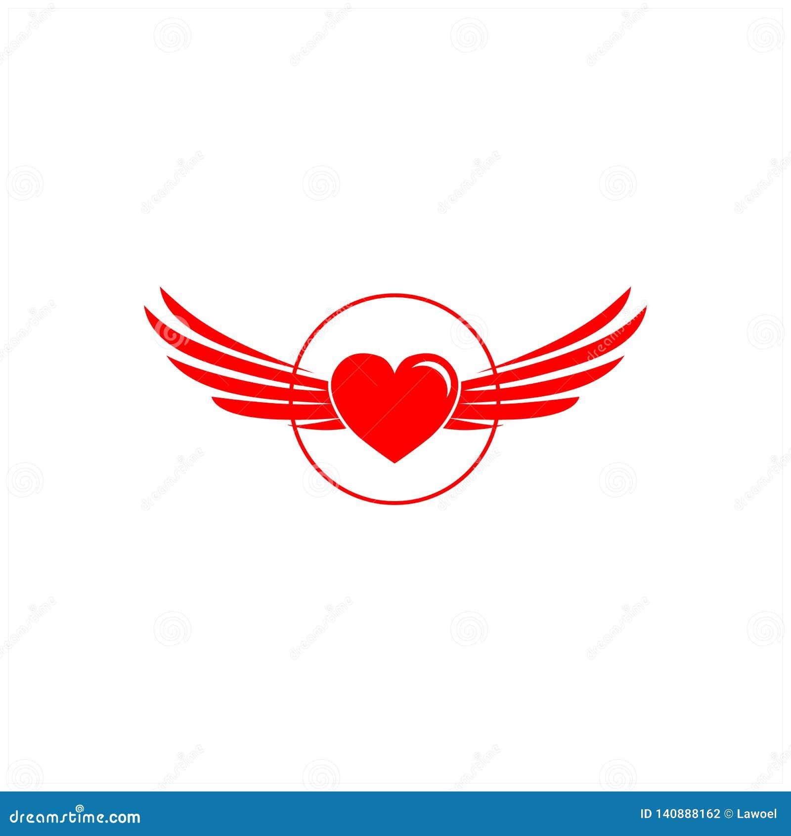 Diseños del logotipo del hogar y de las alas
