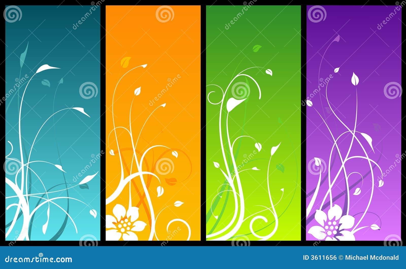 Dise os florales en fondos coloreados for Disenos de fondos