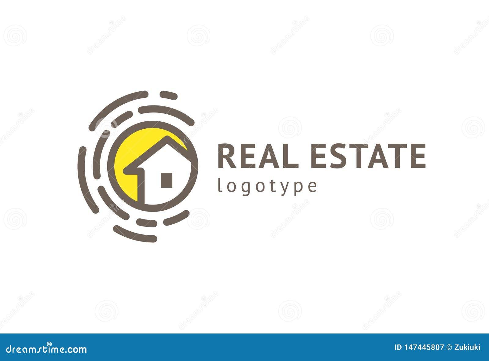 Dise?o abstracto del vector del icono del logotipo del agente inmobiliario Alquiler, venta del logotipo del vector de las propied