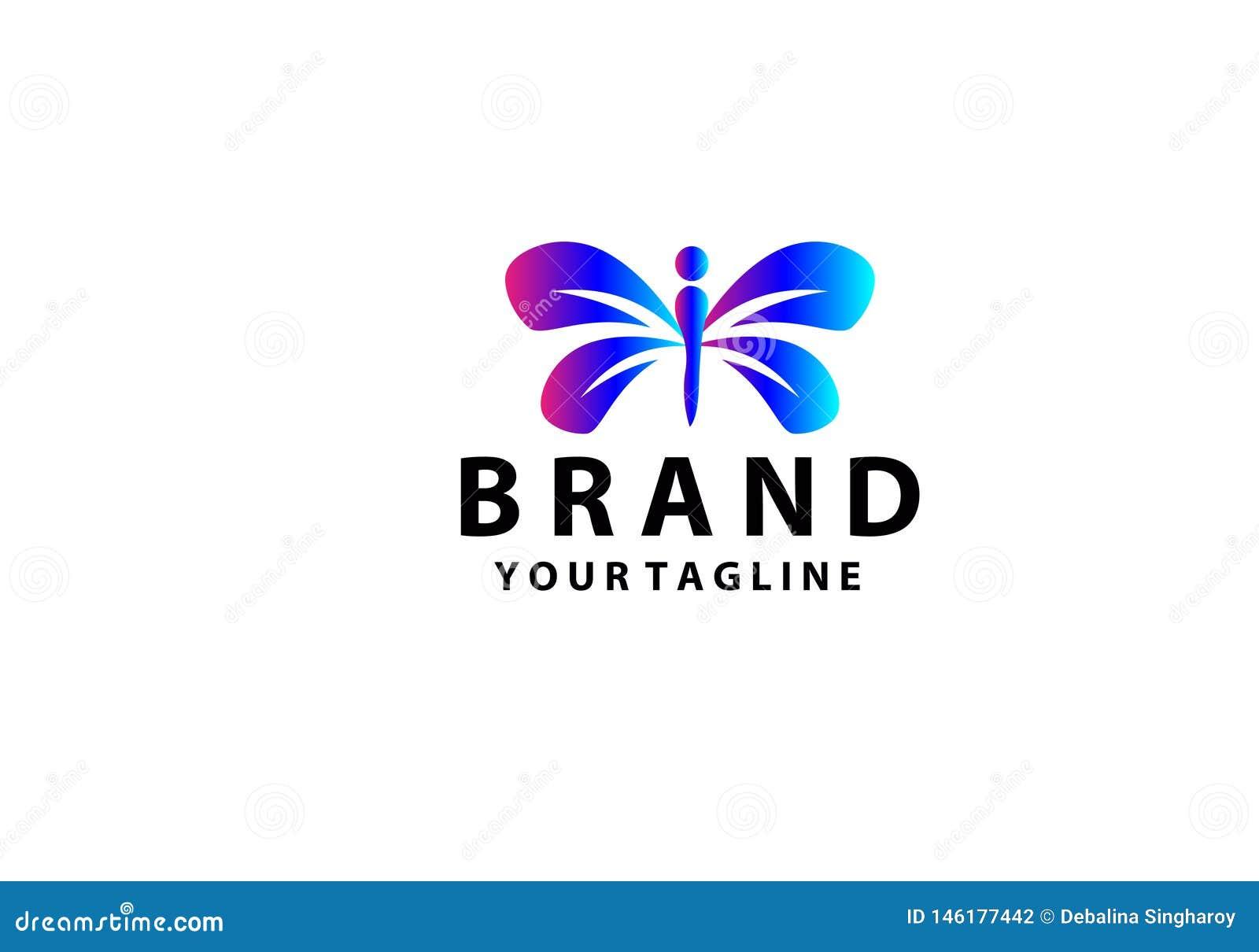 Dise?o del icono de Logo Template Vector de la mariposa de la belleza