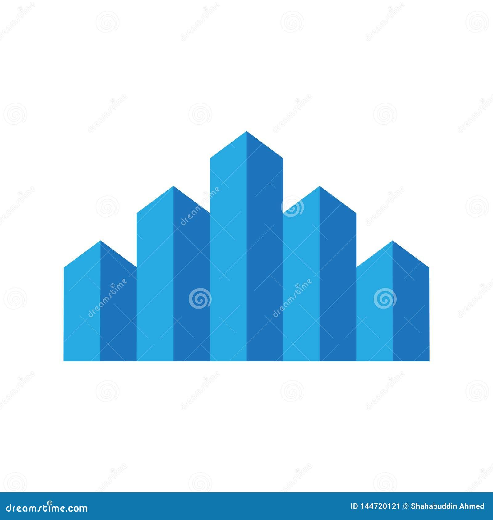 Dise?o del logotipo del edificio Logotipo plano para su empresa de la construcci?n