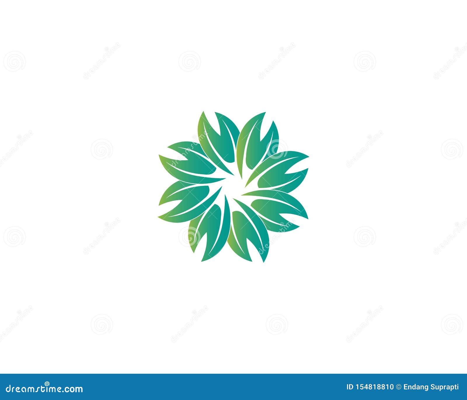 Dise?o del logotipo del vector de la hoja del ?rbol, concepto respetuoso del medio ambiente