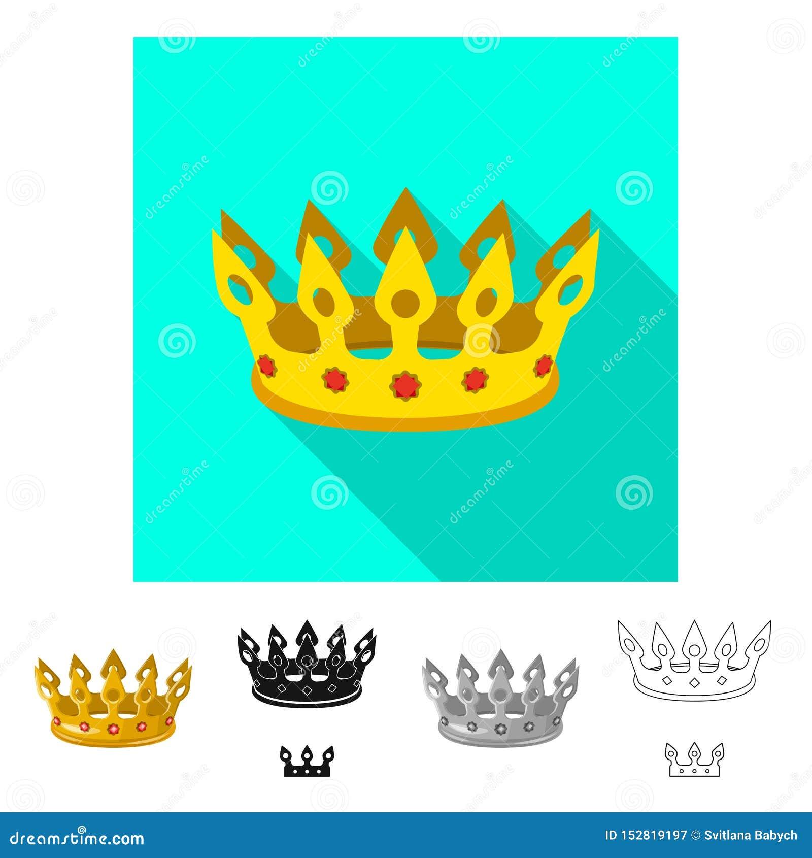 Dise?o del vector de muestra medieval y de la nobleza Fije del icono medieval y de la monarqu?a del vector para la acci?n