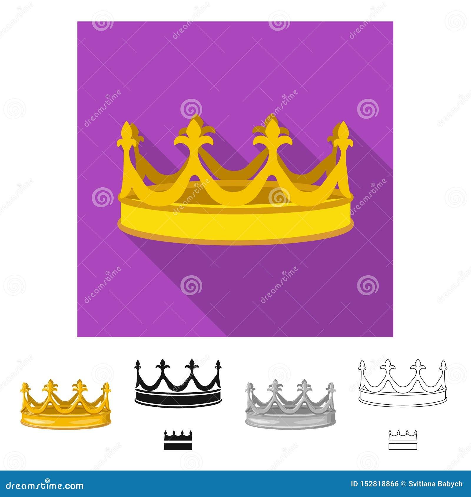 Dise?o del vector de s?mbolo medieval y de la nobleza Colecci?n de icono medieval y de la monarqu?a del vector para la acci?n