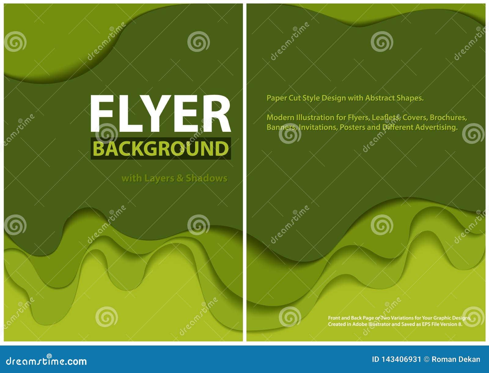 Dise?o moderno del estilo del corte del papel del aviador con capas verdes