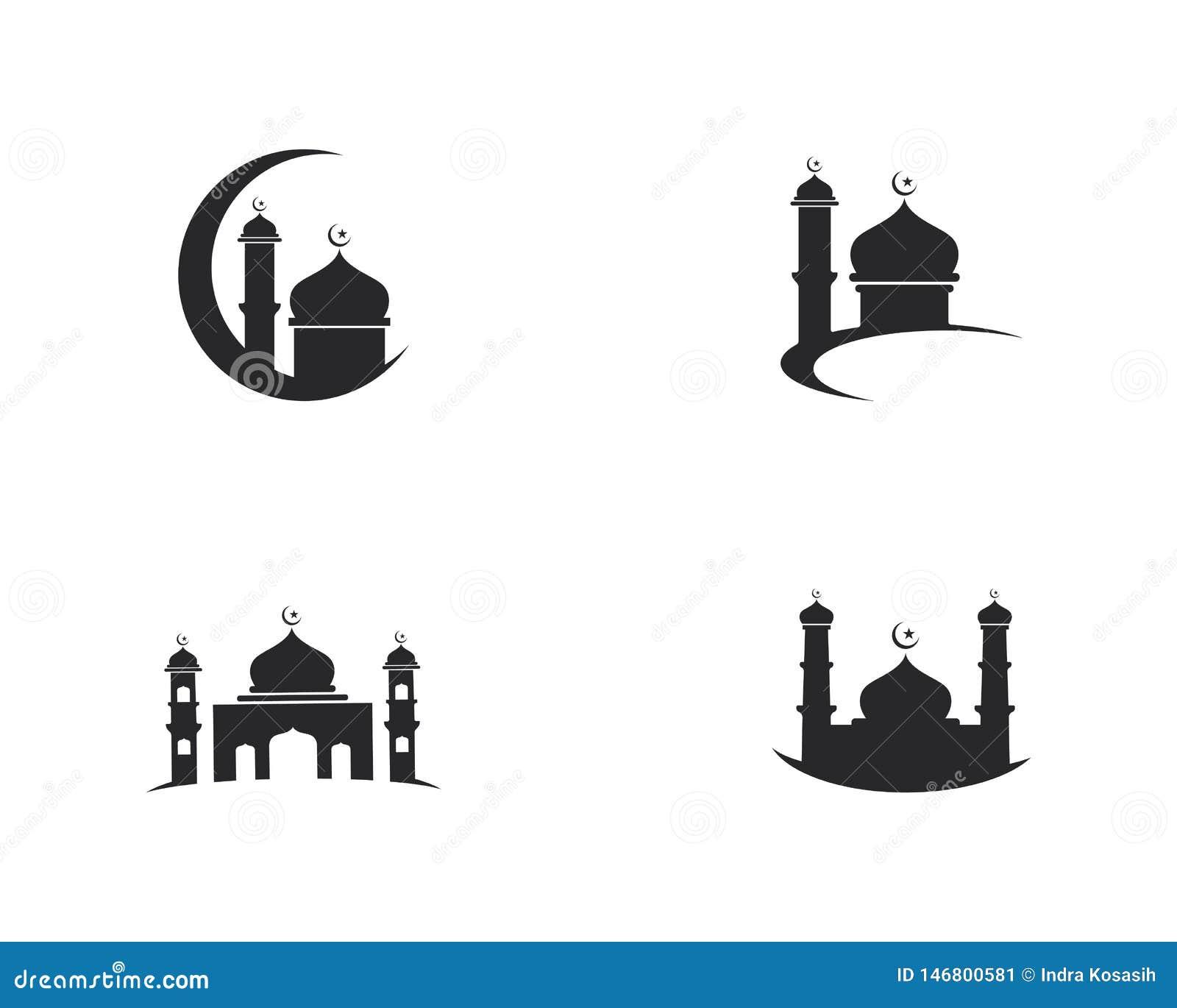 Dise?o musulm?n del ejemplo del vector del icono de la mezquita