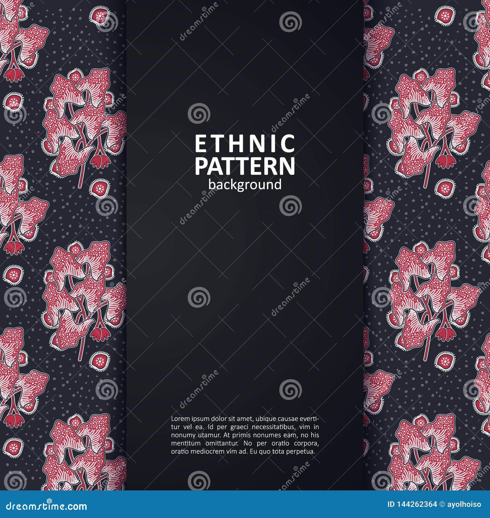 Dise?o tradicional del modelo ?tnico geom?trico para el fondo, tela, ejemplo del vector