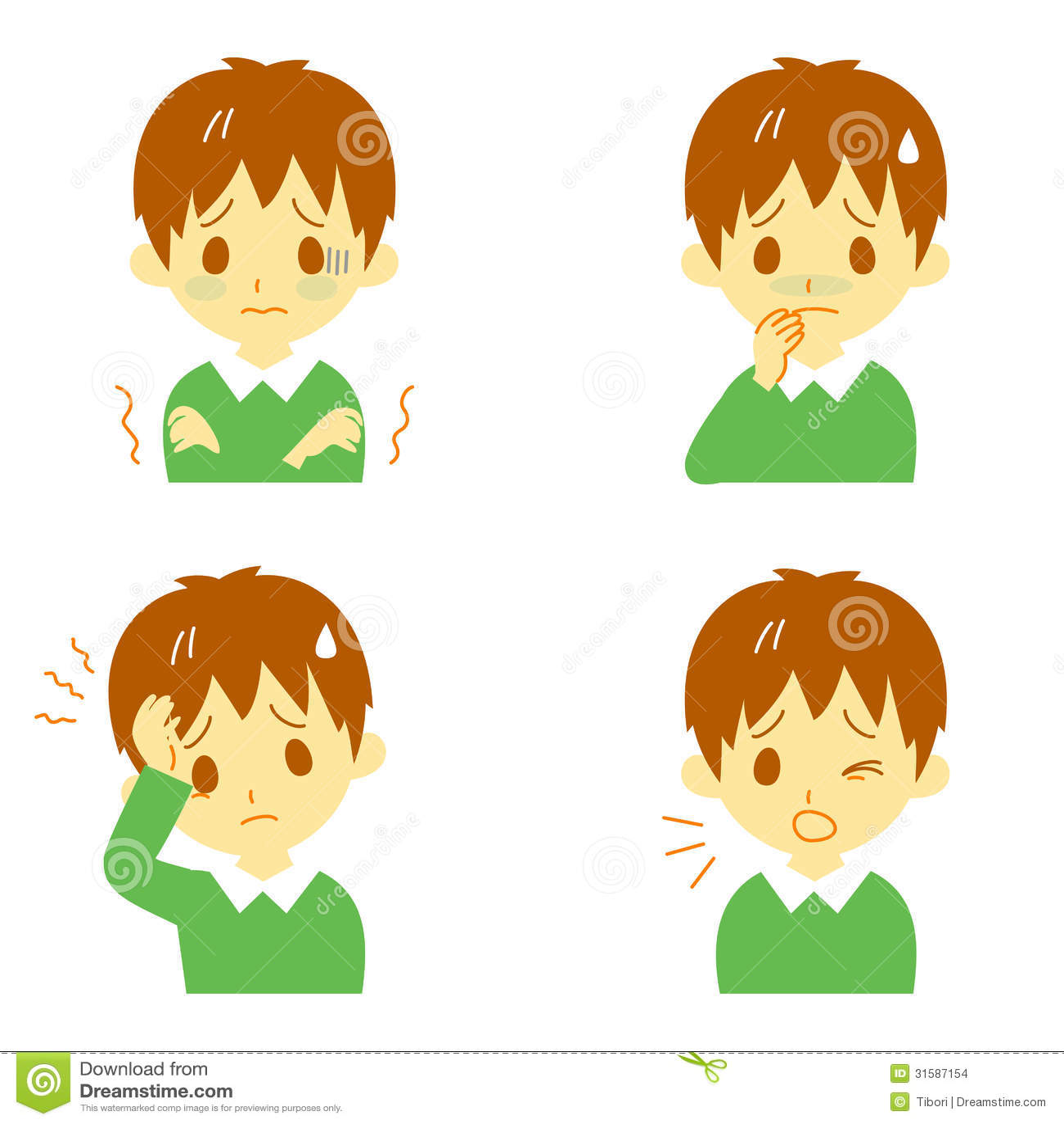 fever migraine nausea are symptoms of what