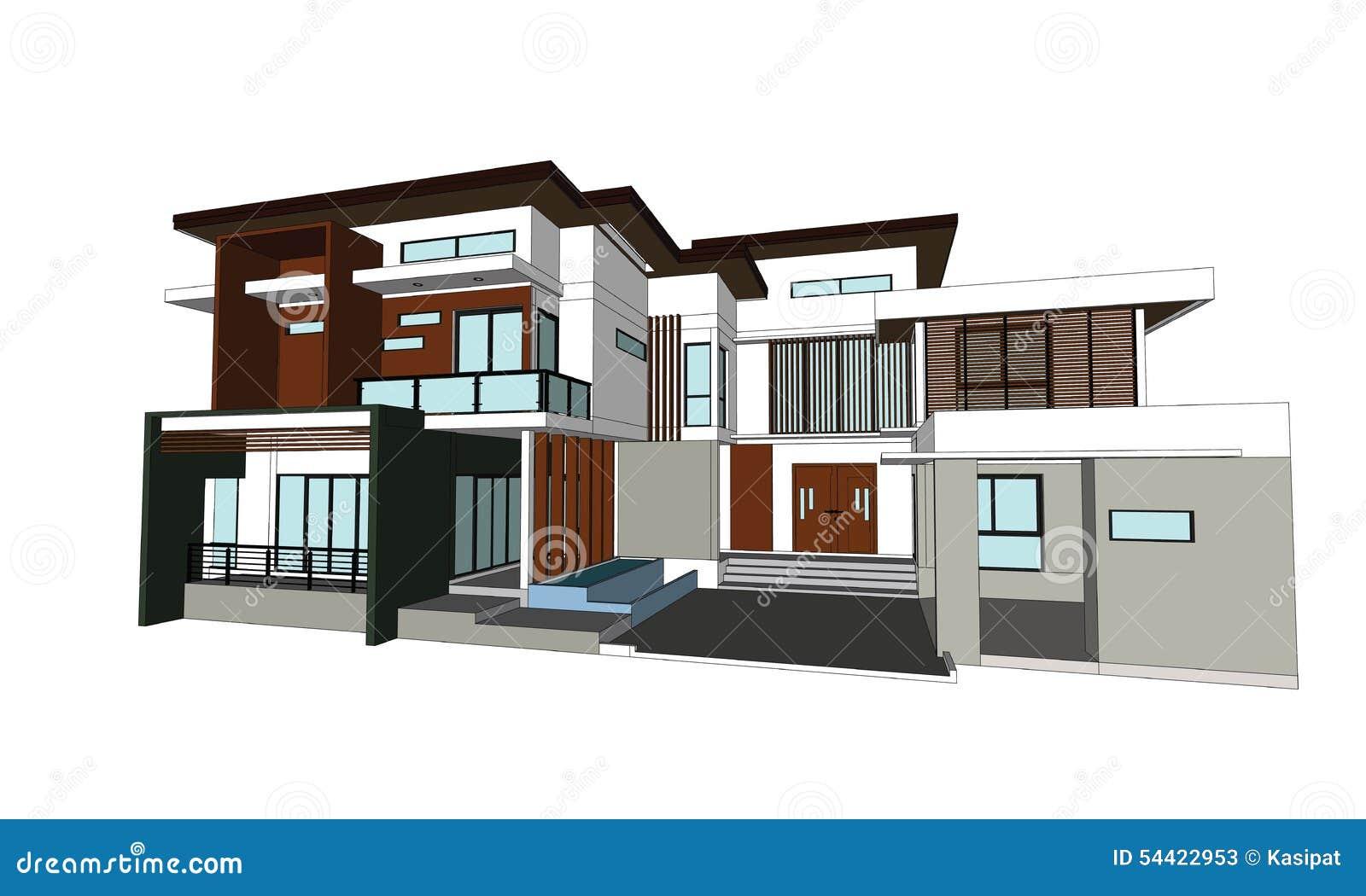 Disegni case di progettazione illustrazione di stock for Disegni case moderne
