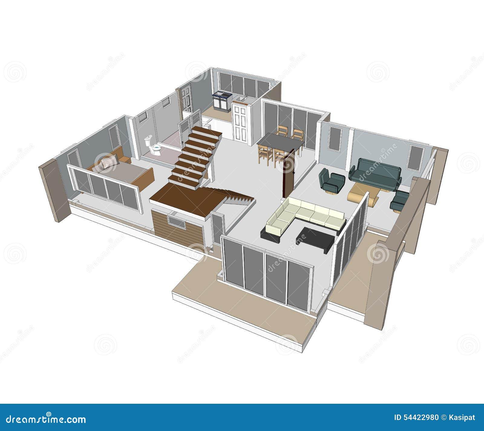 Disegni case di progettazione illustrazione di stock for Piani di progettazione di piccole case