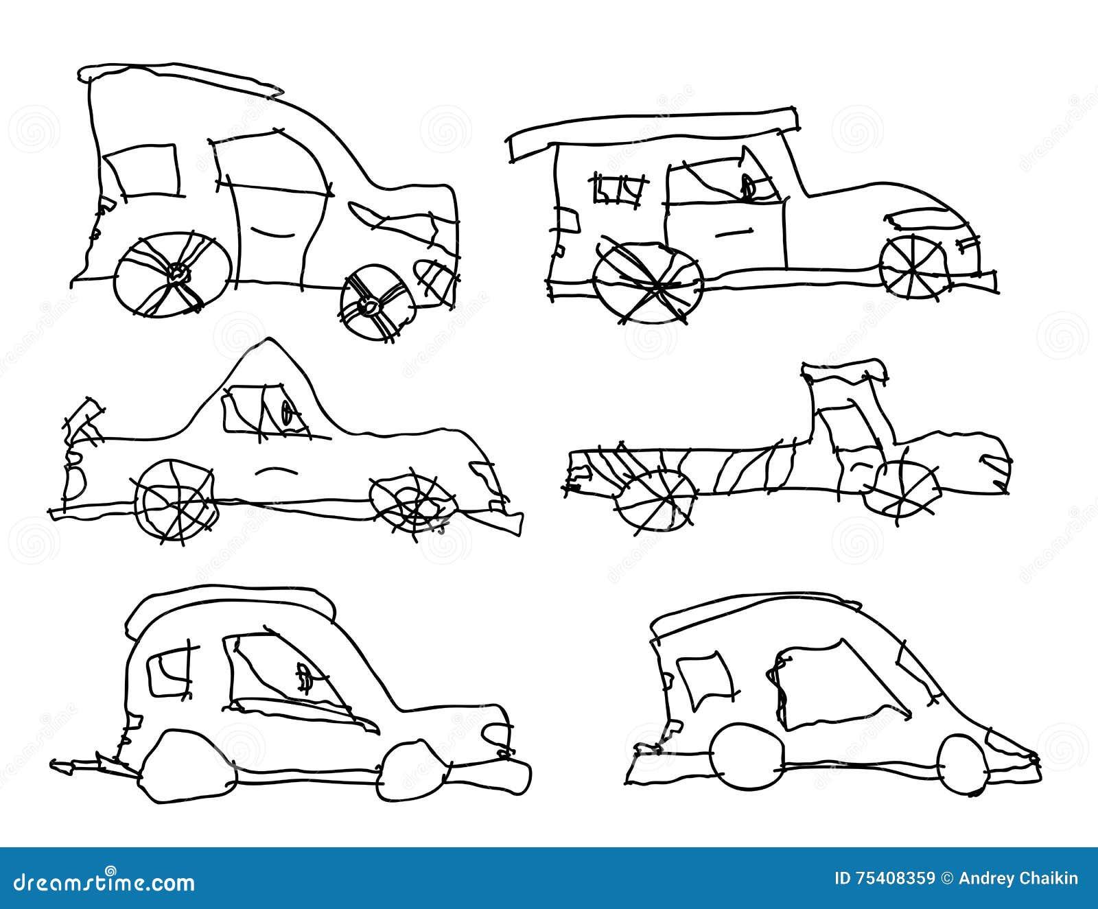 Disegni dei bambini delle automobili illustrazione for Disegni delle macchine