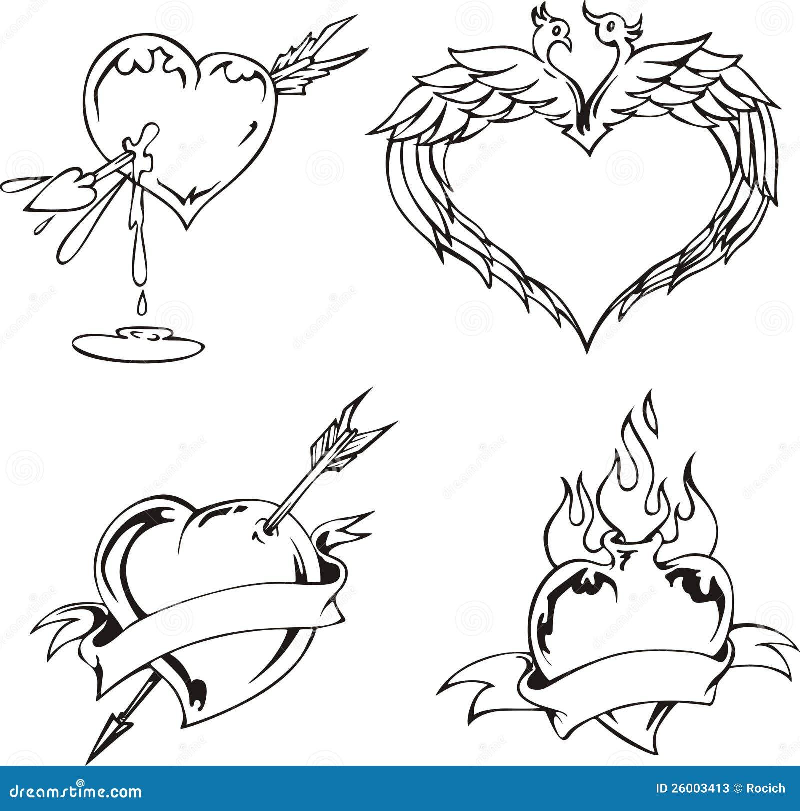 Disegni di amore con i cuori illustrazione vettoriale for Disegni di cuori da stampare gratis