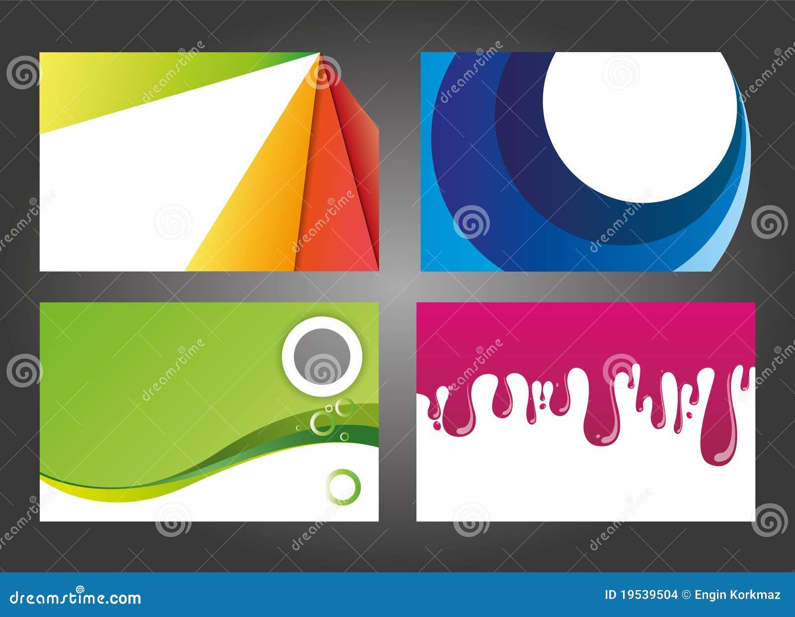 Disegni moderni e variopinti del biglietto da visita for Disegni duplex moderni