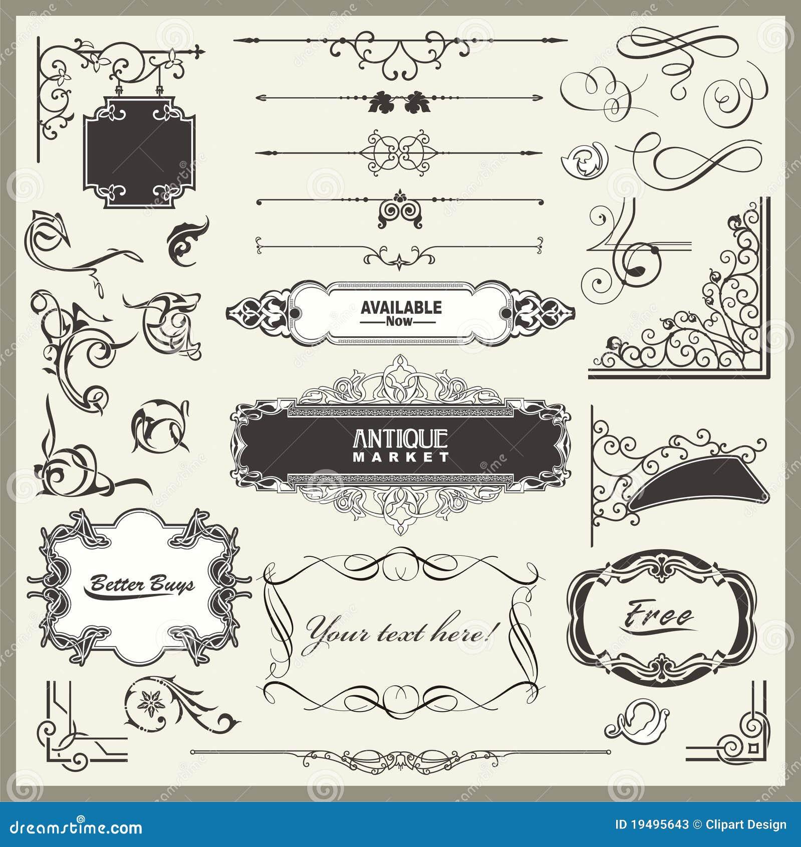 Disegni squisiti della decorazione della pagina e del for Decorazione e design