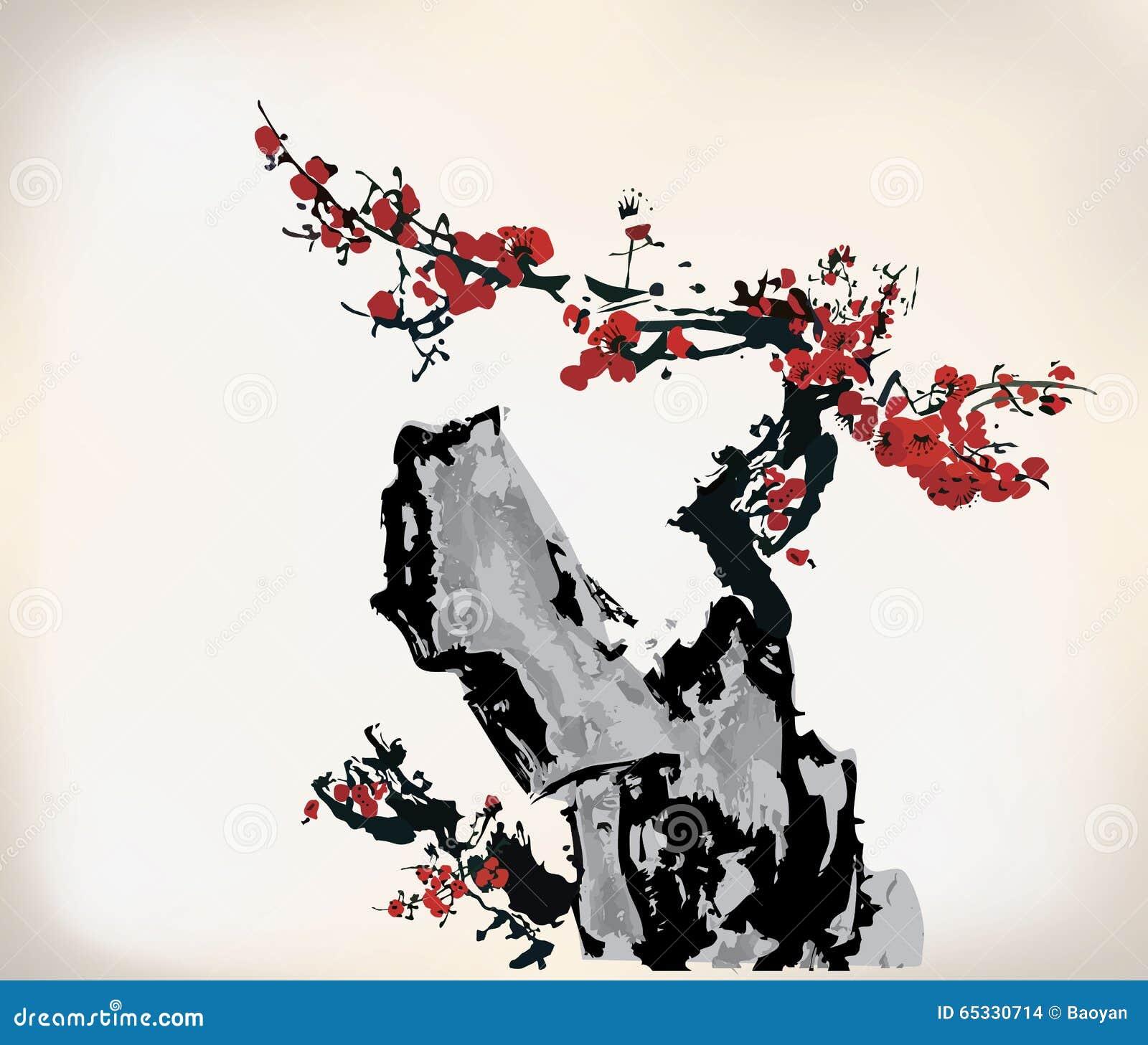 Disegni tradizionali cinesi di stile dell 39 inchiostro for Oggetti tradizionali cinesi