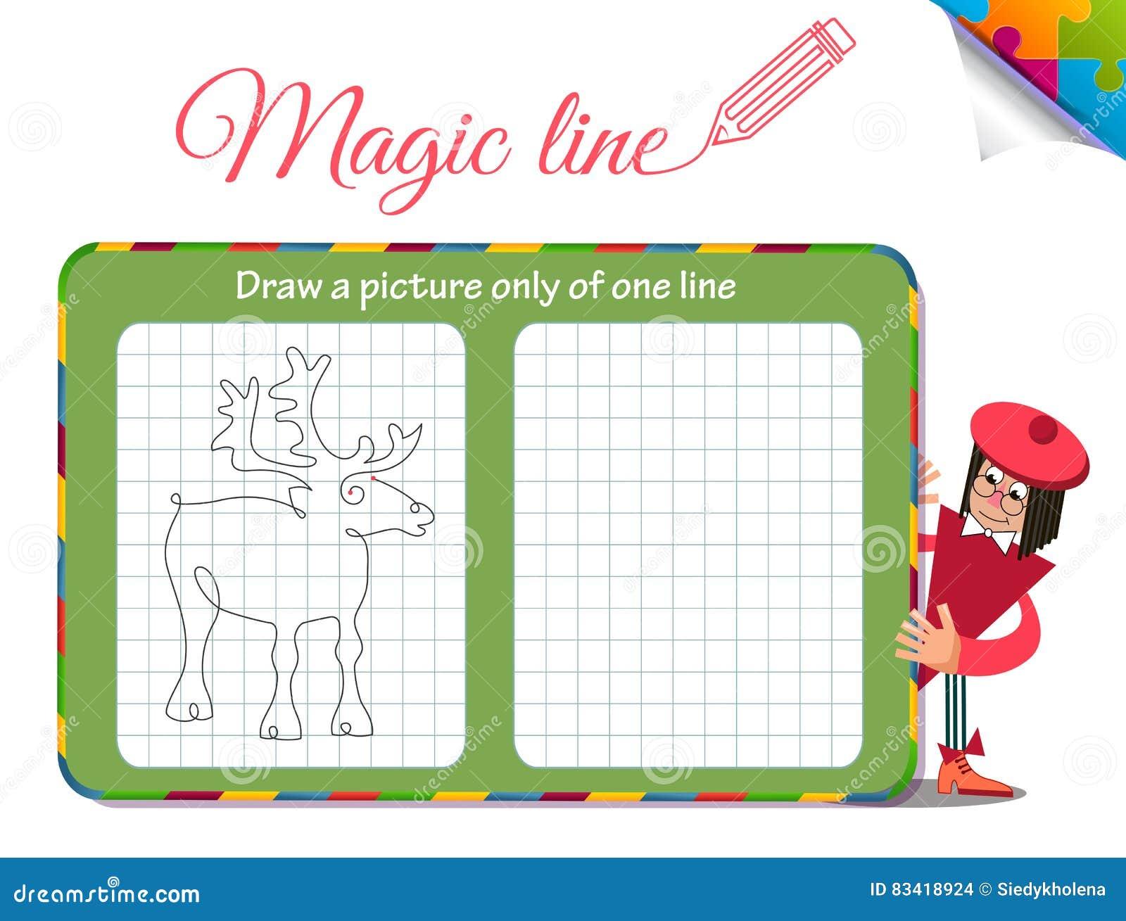Disegni un immagine soltanto di una linea cervo