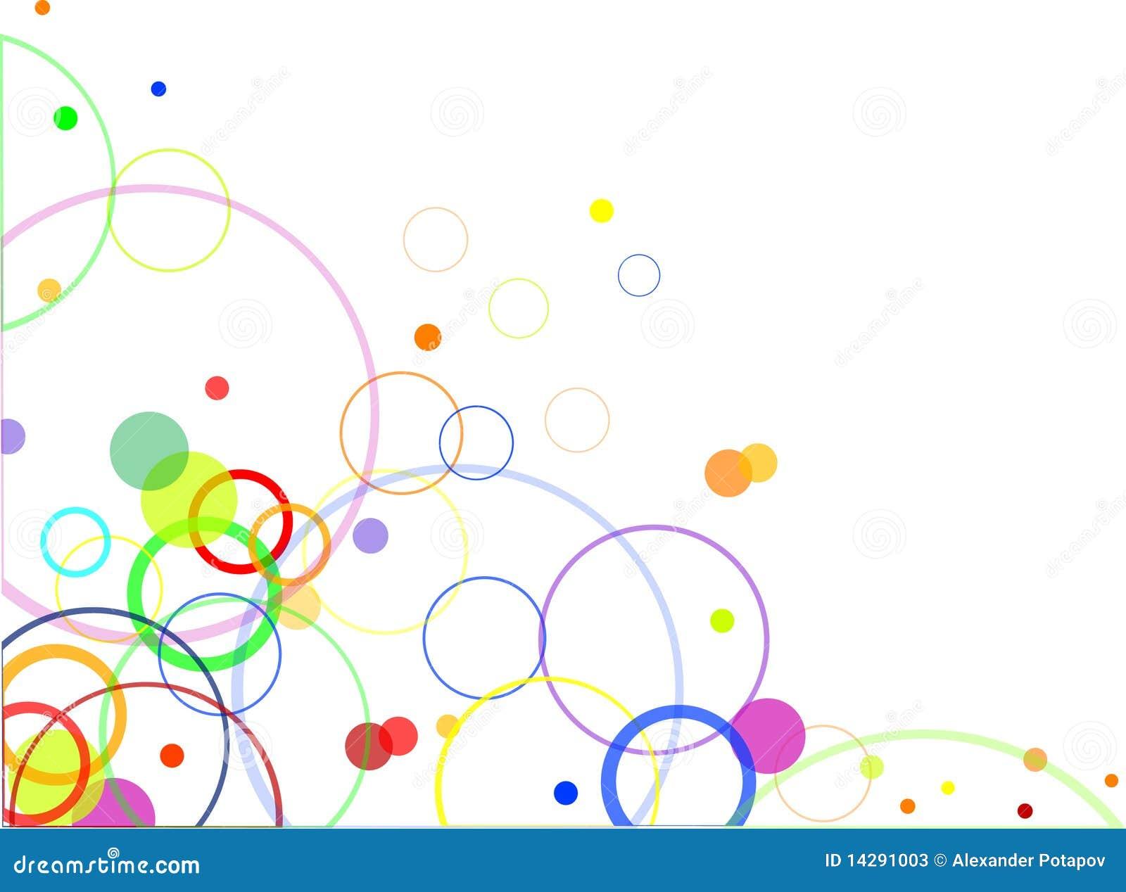 Disegno astratto con i cerchi di colore