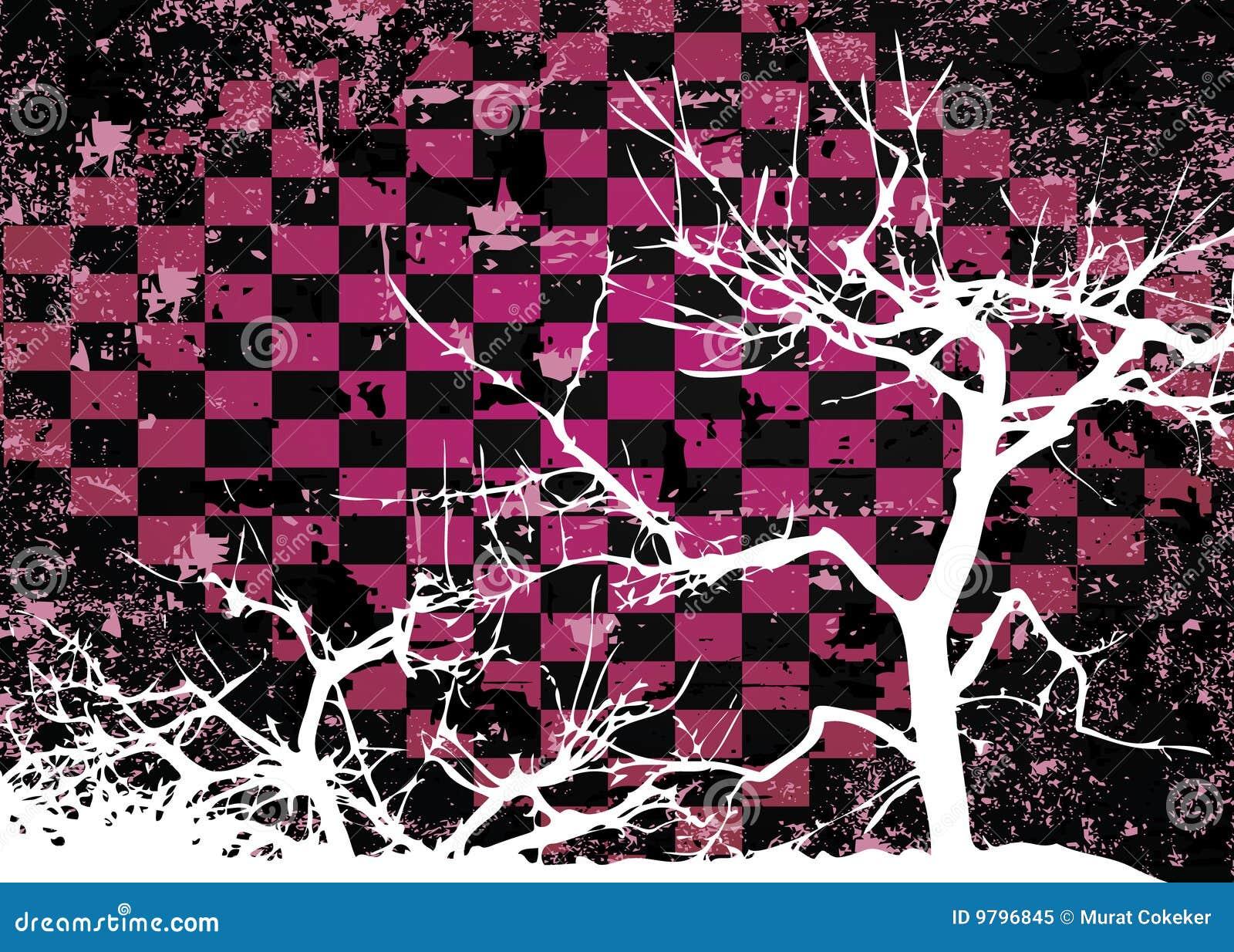 Disegno astratto grungy dellalbero di autunno illustrazione
