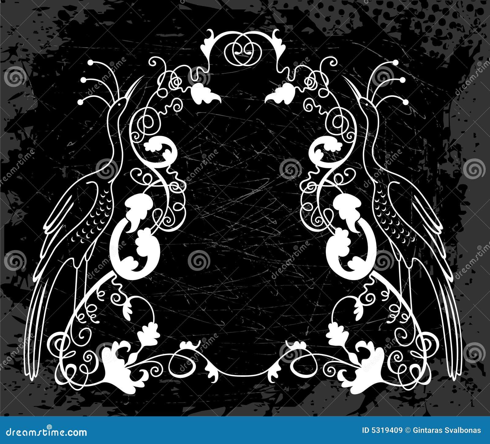 Download Disegno bianco artistico illustrazione vettoriale. Illustrazione di scuro - 5319409