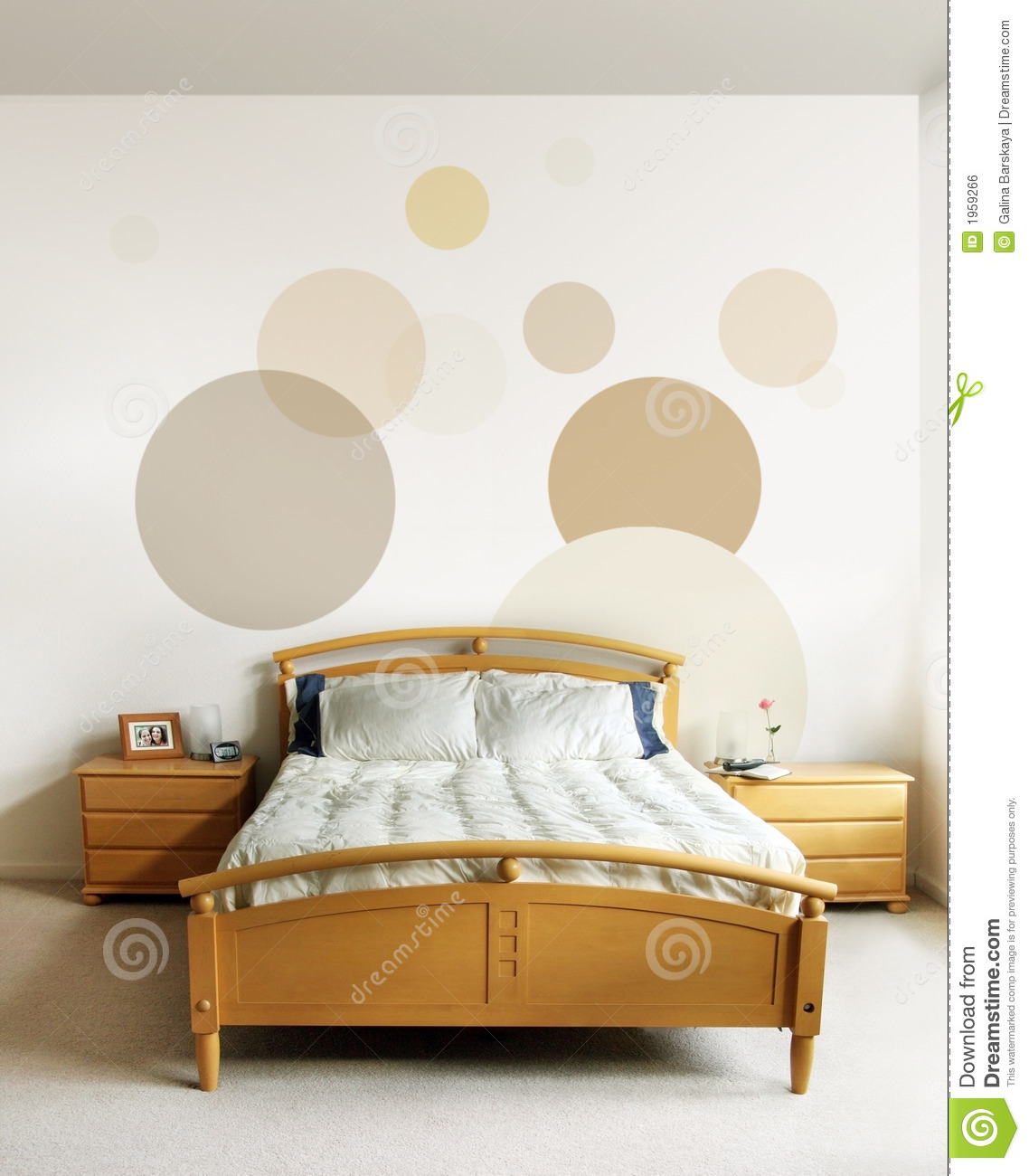 Disegno in camera da letto moderna fotografia stock How to design your bedroom wall