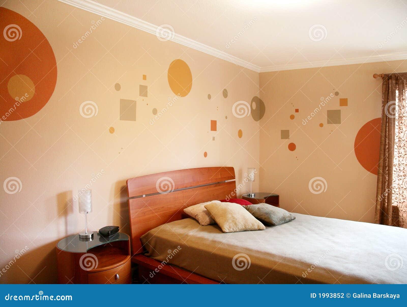 Disegno in camera da letto moderna fotografia stock - Disegni per pareti camera da letto ...