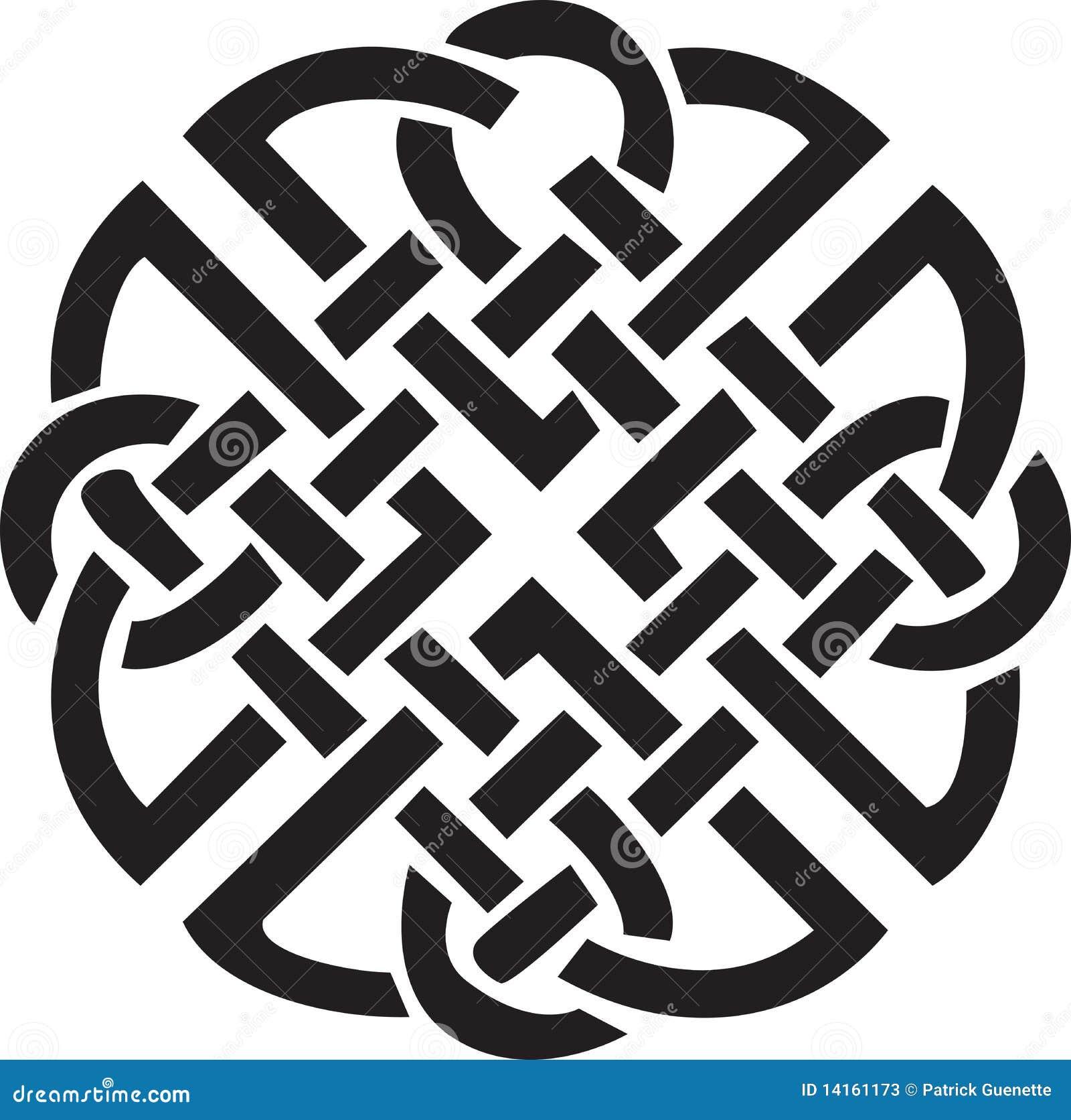 Disegno celtico irlandese