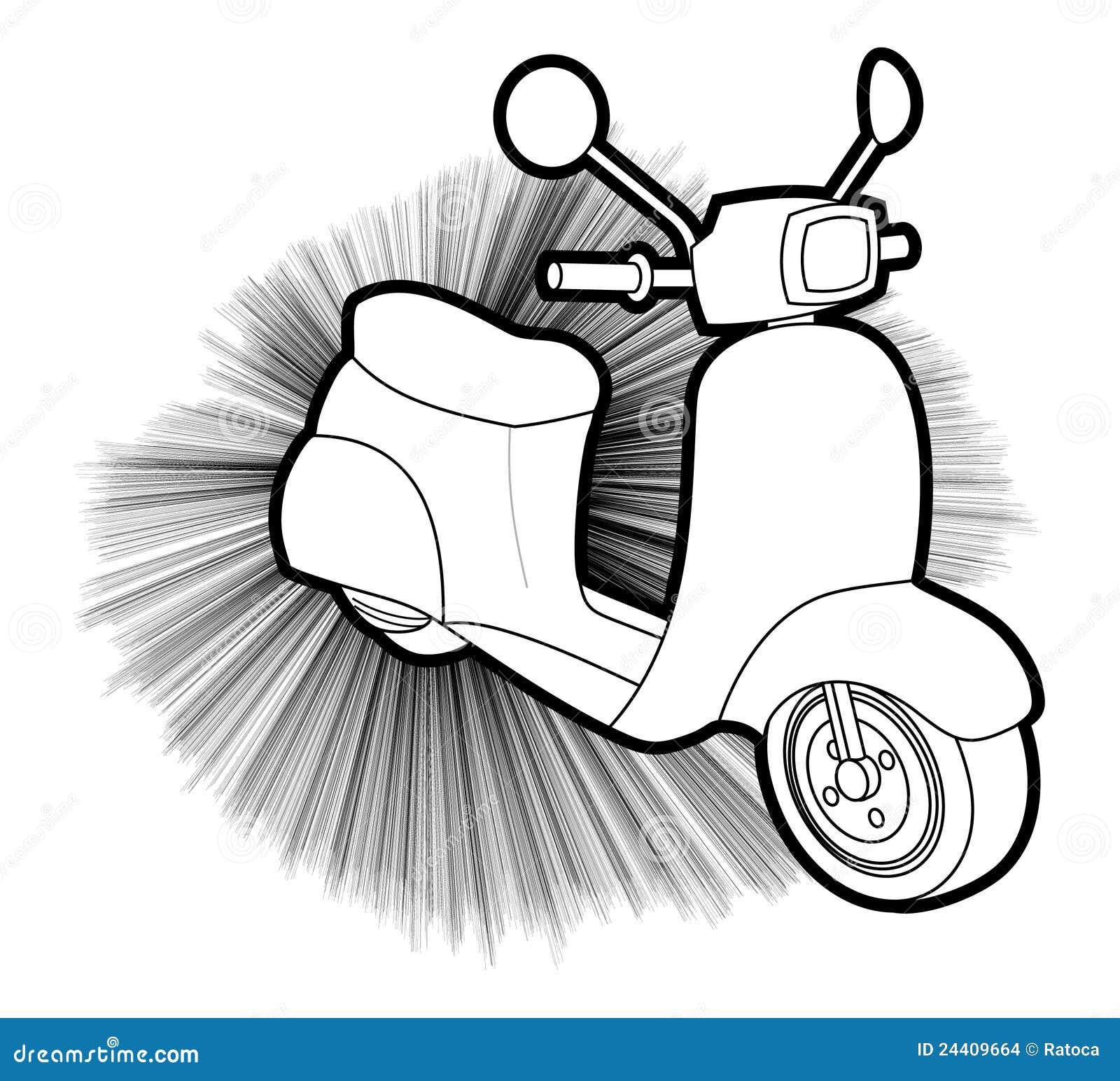 be35dbc185 Disegno Creativo Del Motorino Illustrazione Vettoriale ...