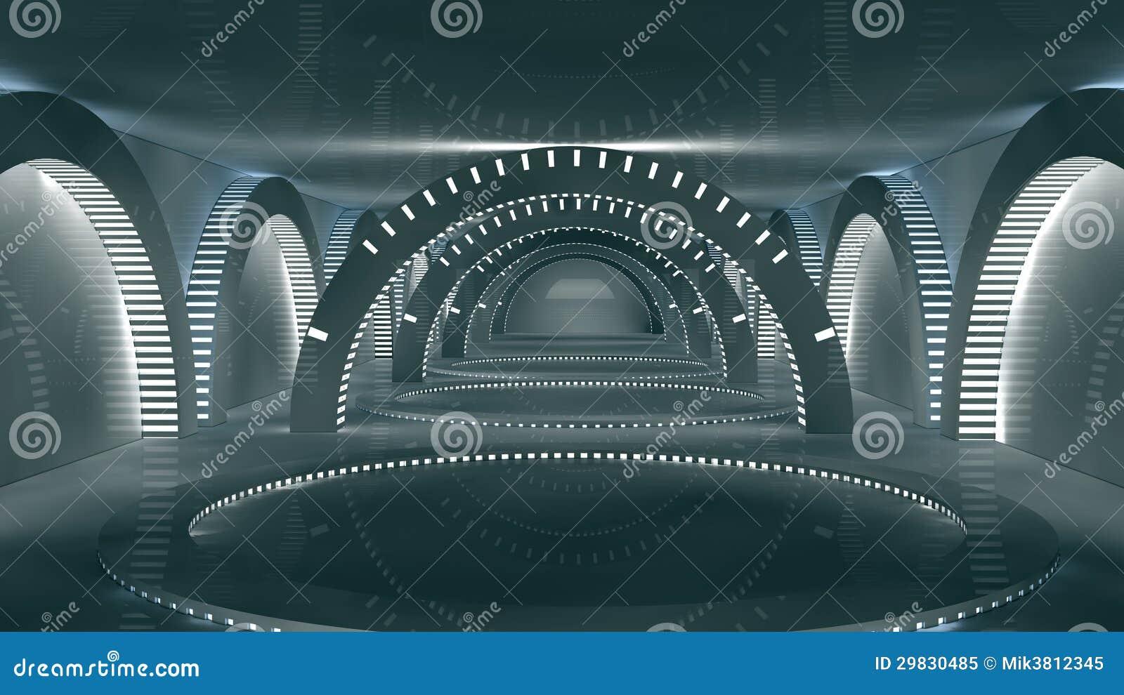 Interno futuristico