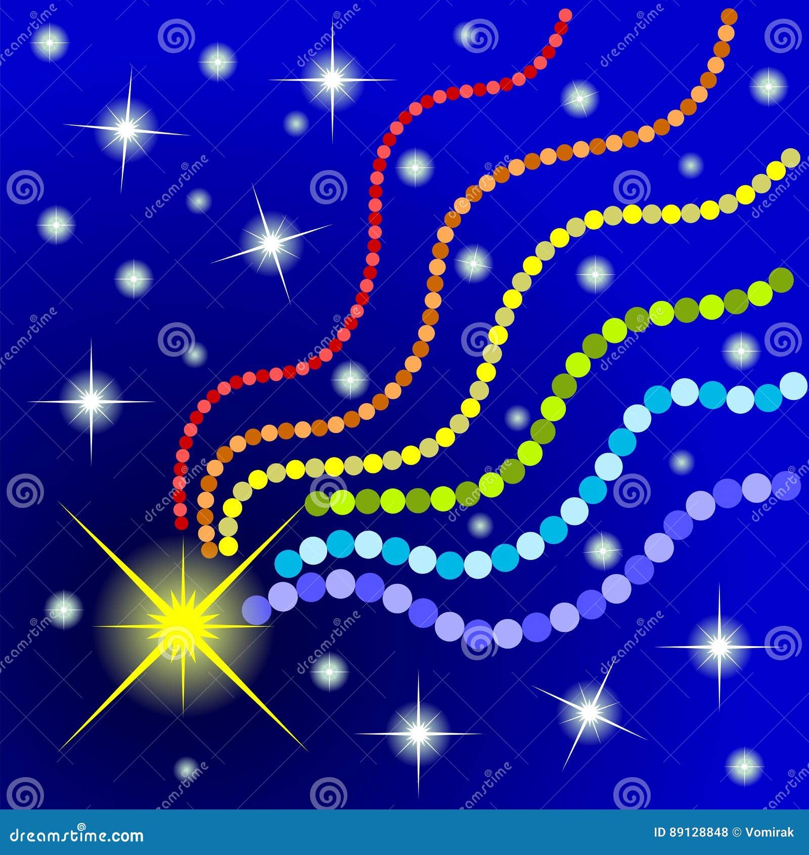 Foto Di Una Stella Cadente.Disegno Decorativo Di Una Stella Cadente Illustrazione Di