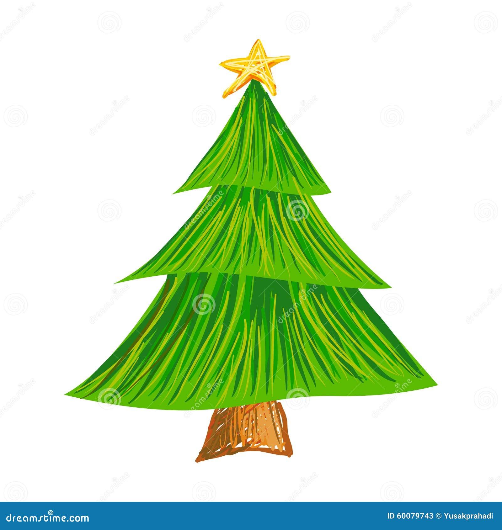 Disegno Del Colpo Della Spazzola Dell Albero Di Natale