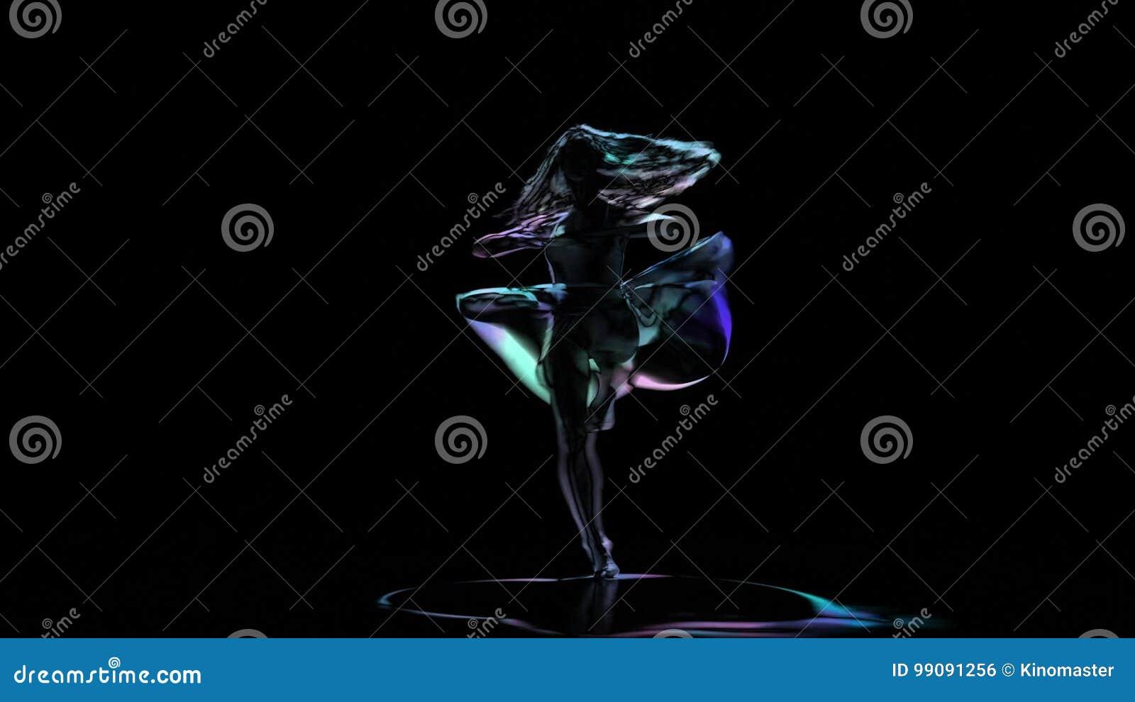 Disegno Di Una Ballerina : Disegno del computer della ballerina che posa sul fondo nero