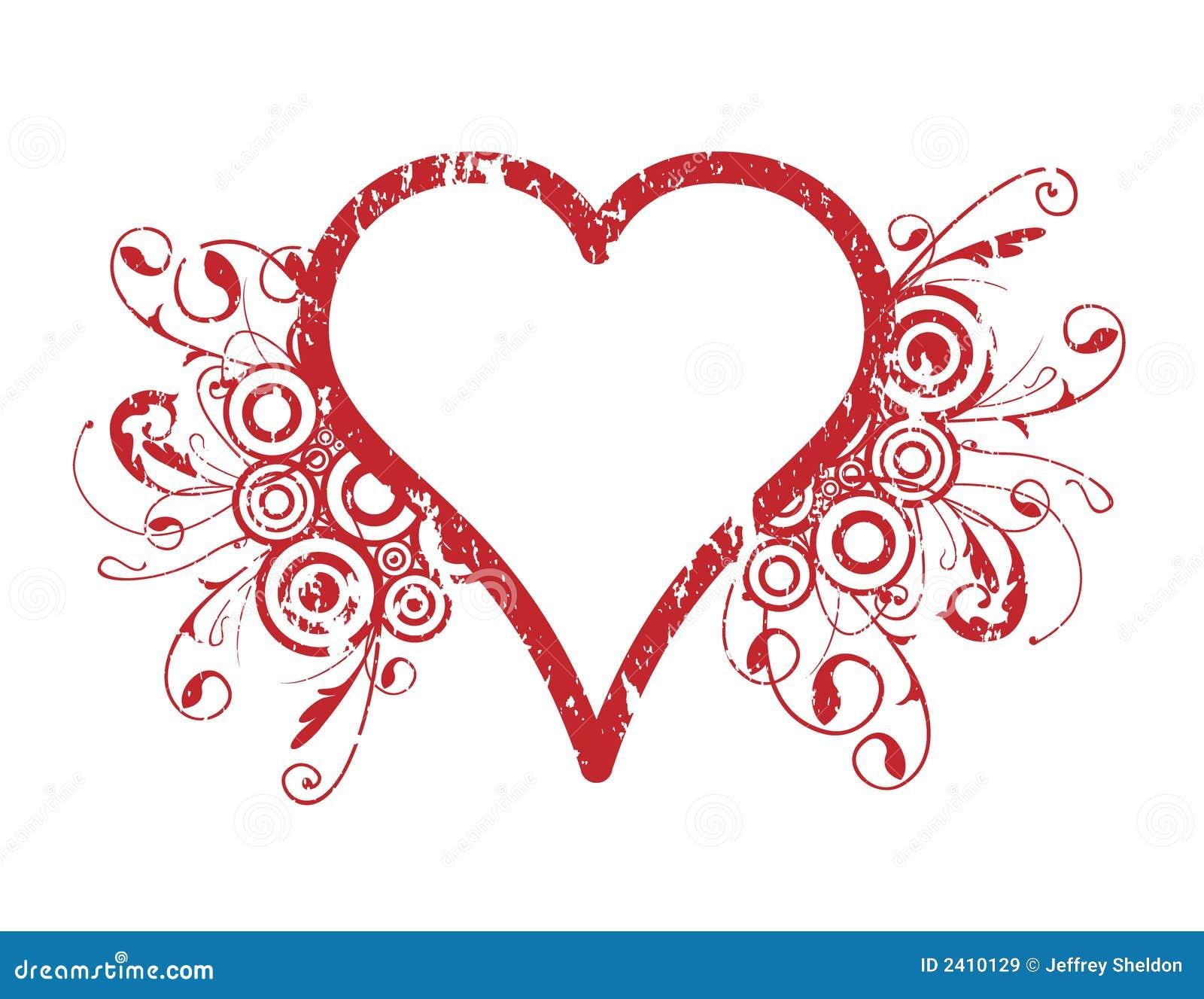 Popolare Disegno del cuore illustrazione vettoriale. Immagine di curvatura  XG91