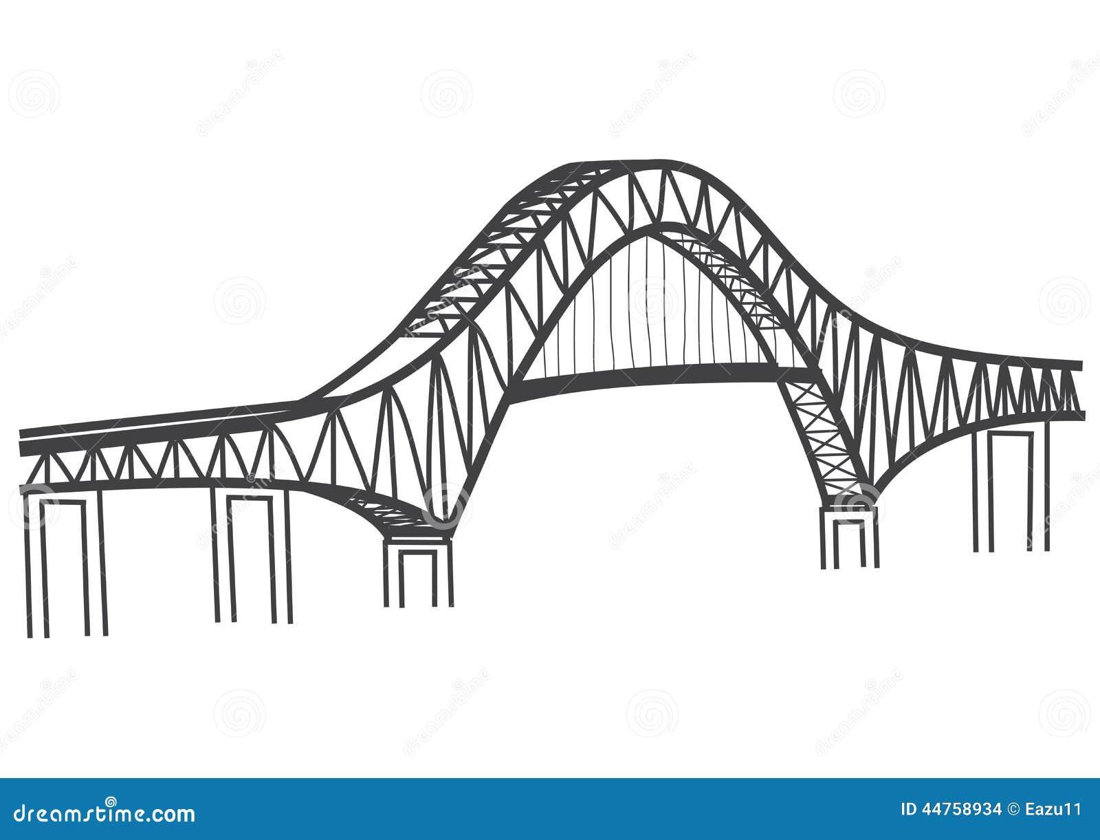 Disegno Del Ponte Canale Di Panama Delle Americhe ...