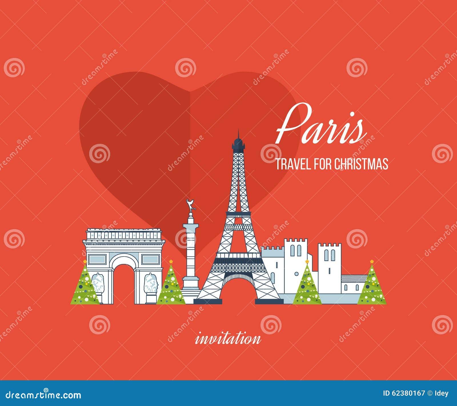 Extrêmement Disegno Della Cartolina D'auguri Di Buon Natale Parigi  AF76
