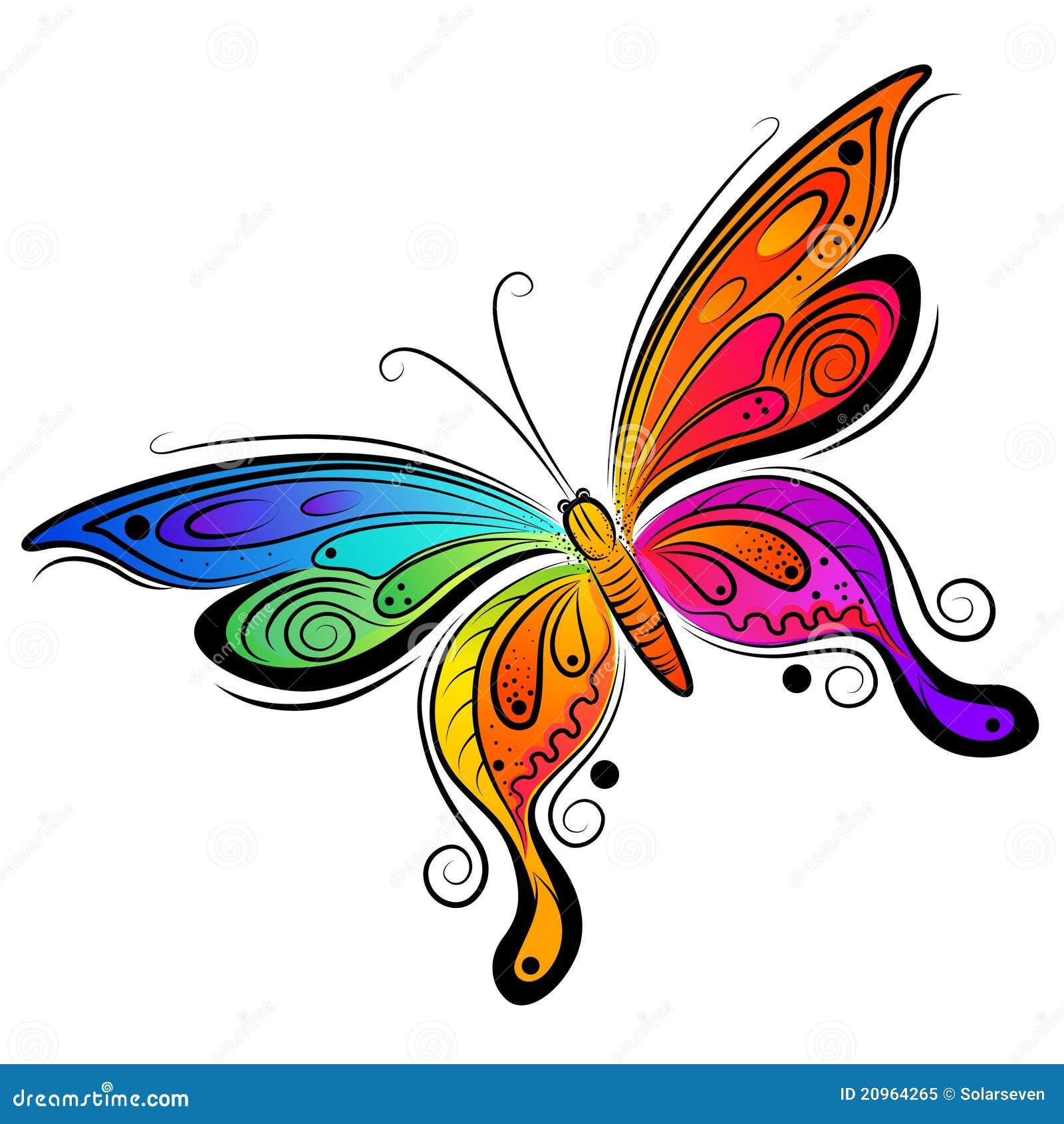 Disegno della farfalla di vettore illustrazione vettoriale - Immagini di farfalle a colori ...