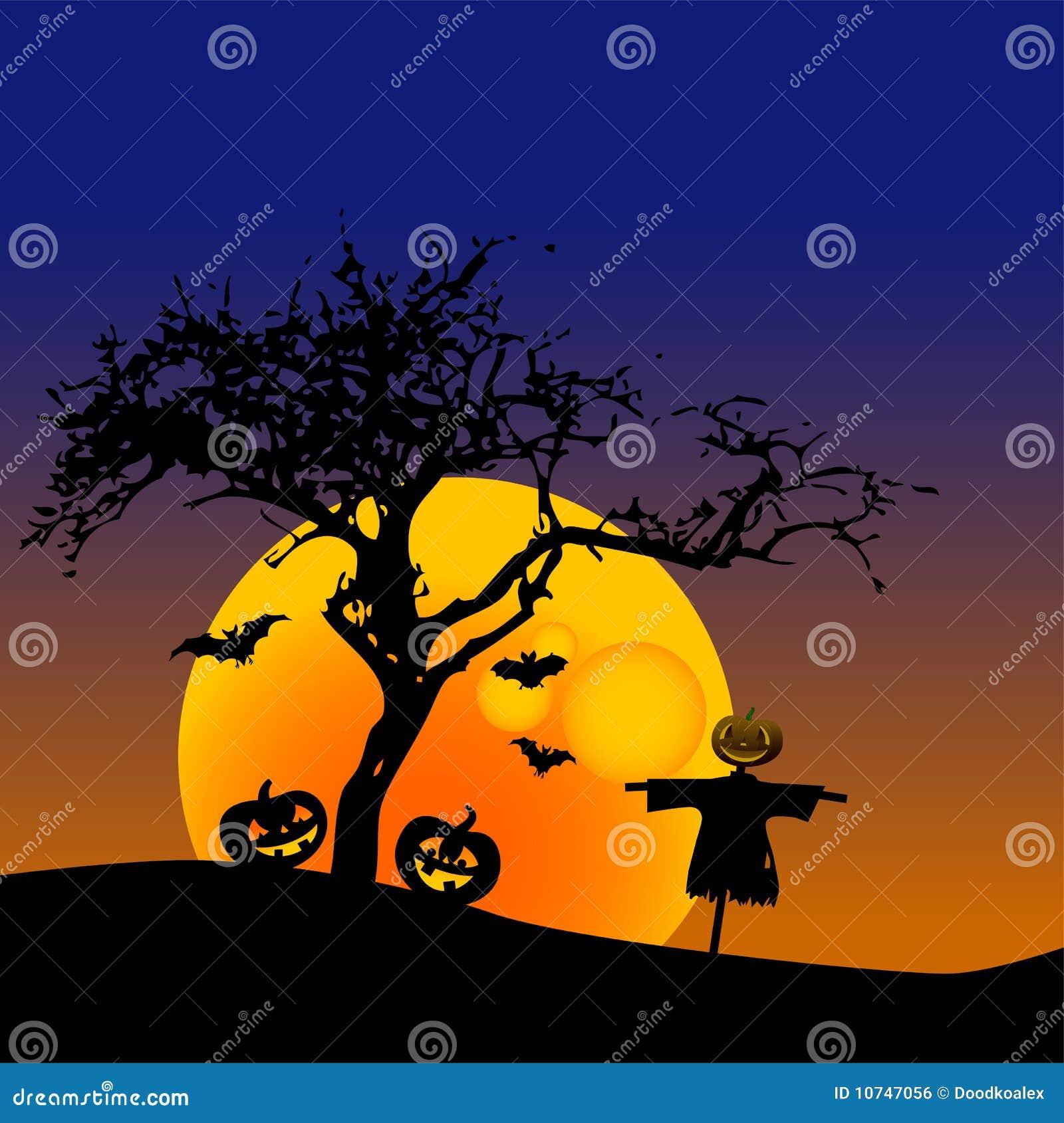Disegno della zucca di halloween illustrazione vettoriale for Zucca di halloween disegno