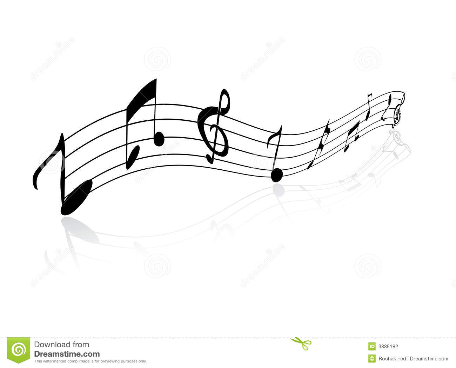 Disegno delle note musicali illustrazione vettoriale for Immagini vector