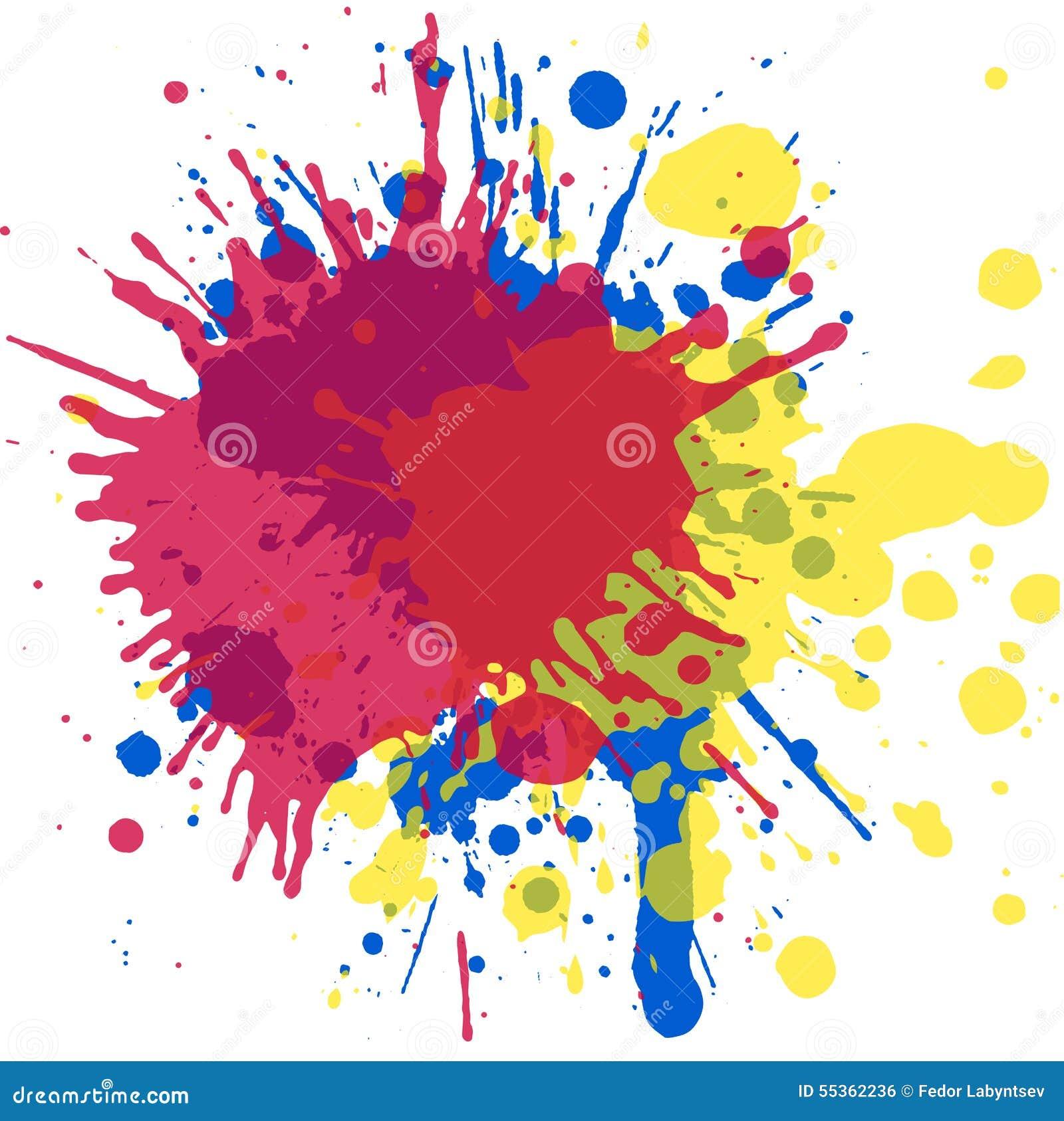 Disegno di arte L acquerello spruzza per la vostra creatività