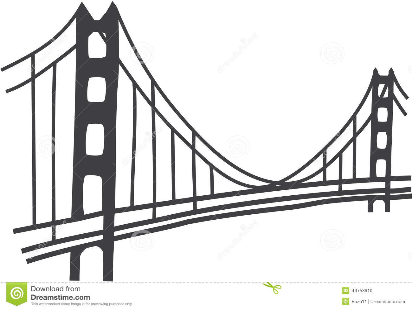 Disegno di golden gate bridge